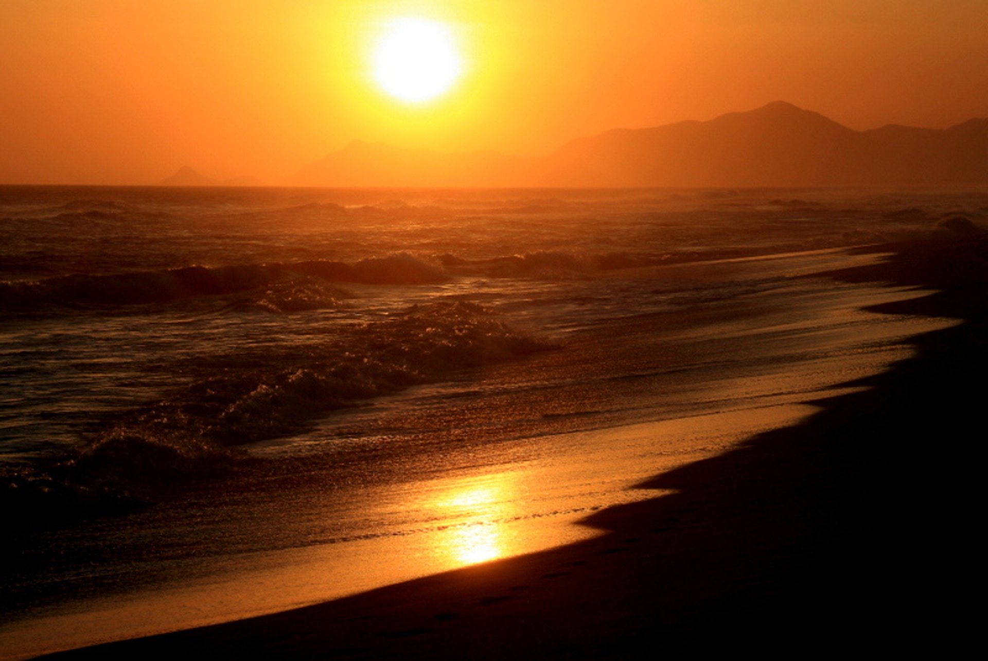 Sunset at Praia da Barra da Tijuca