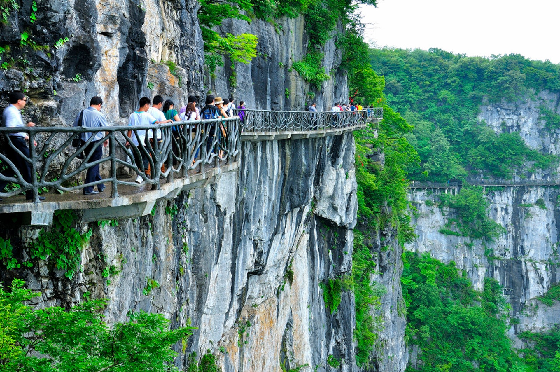 Best time to see Glass Plank Road at Tianmen Mountain in China 2020