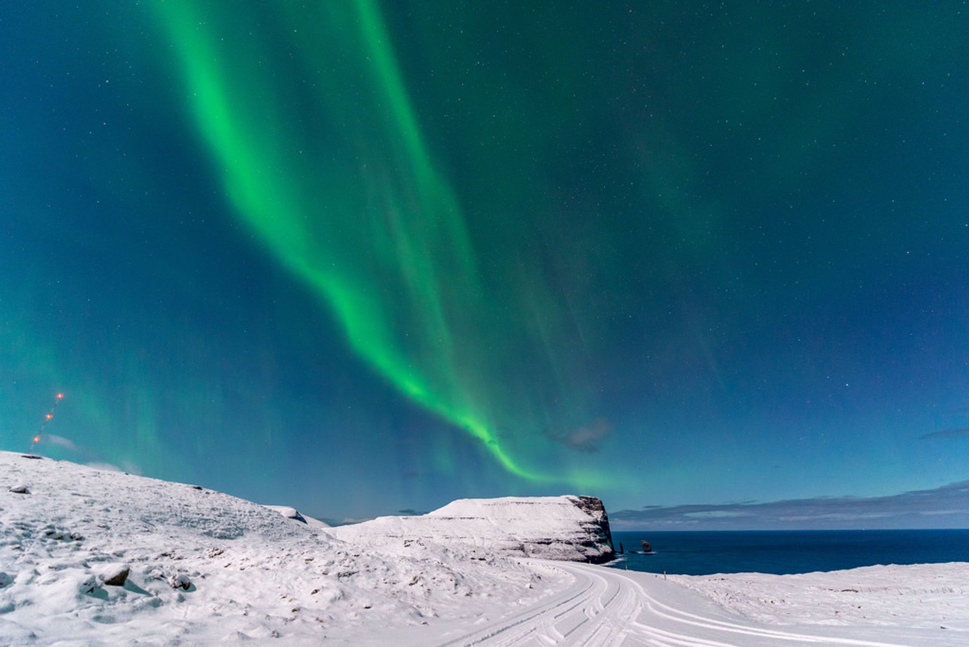 Aurora Borealis over the Faroe Islands