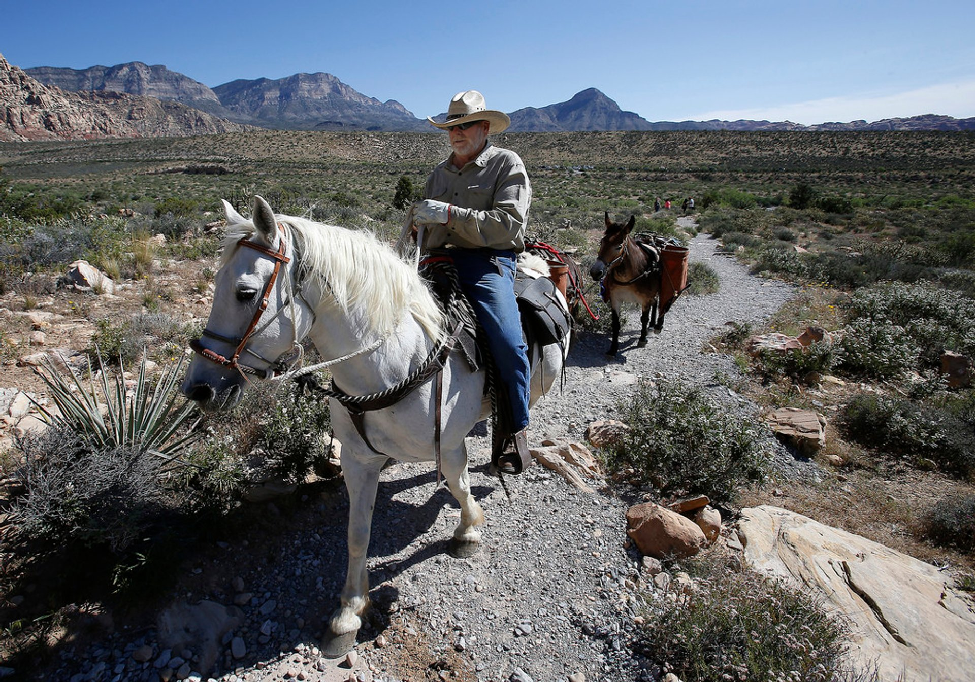 Horseback Riding through Red Rock Canyon in Nevada - Best Season 2020