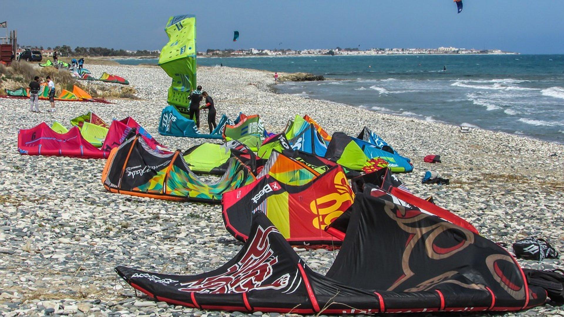 Kitesurfing and Windsurfing  in Cyprus - Best Season 2020