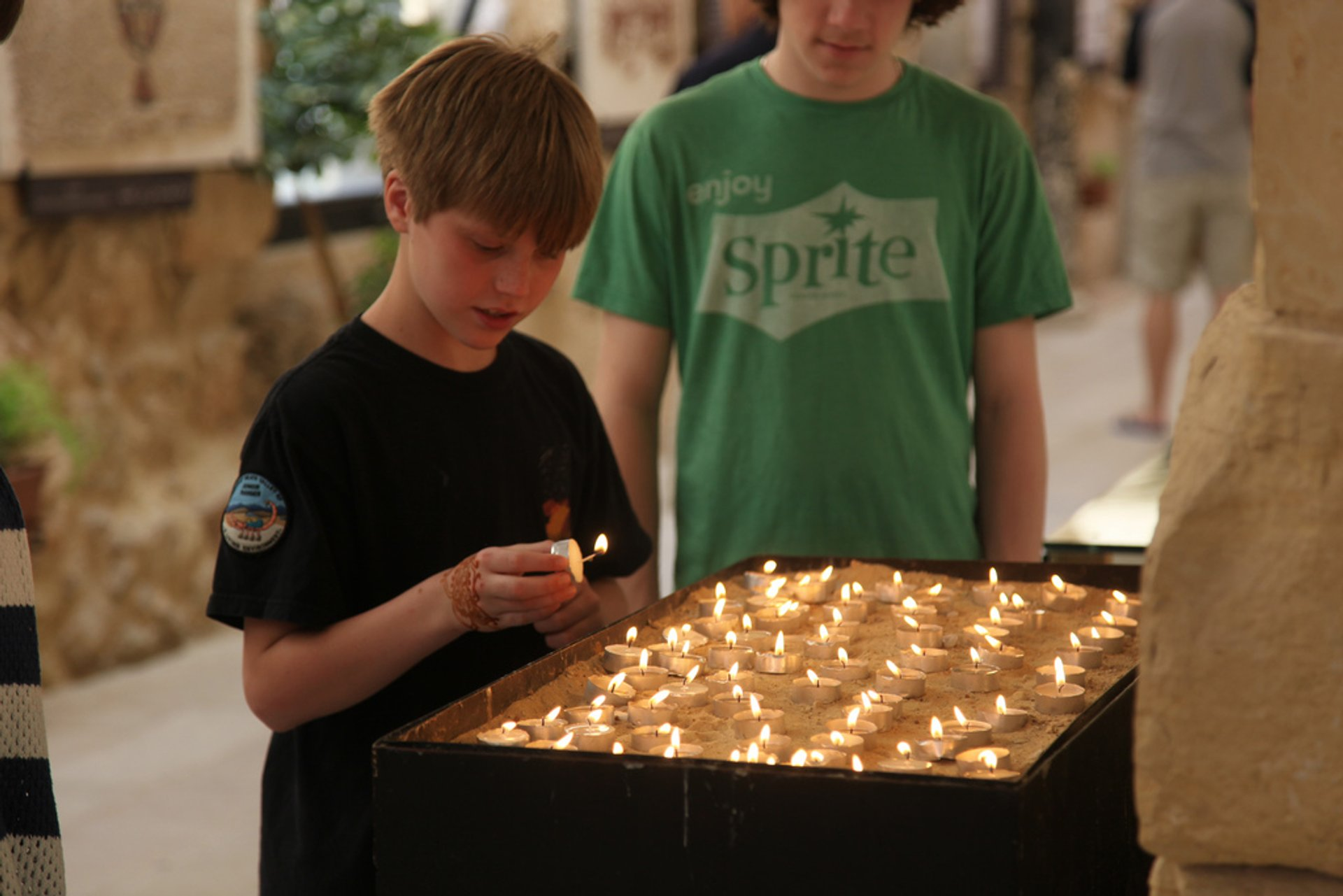 Lighting Candles at Mt Nebo 2020
