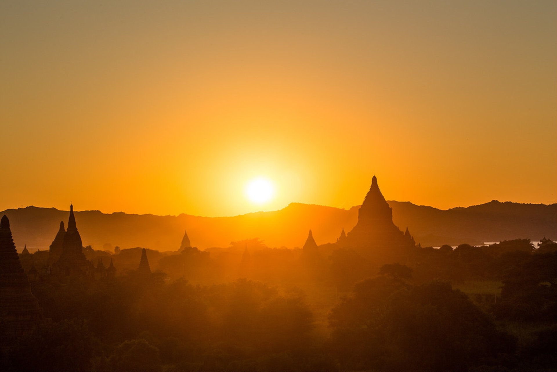 Sunset over Old Bagan 2020
