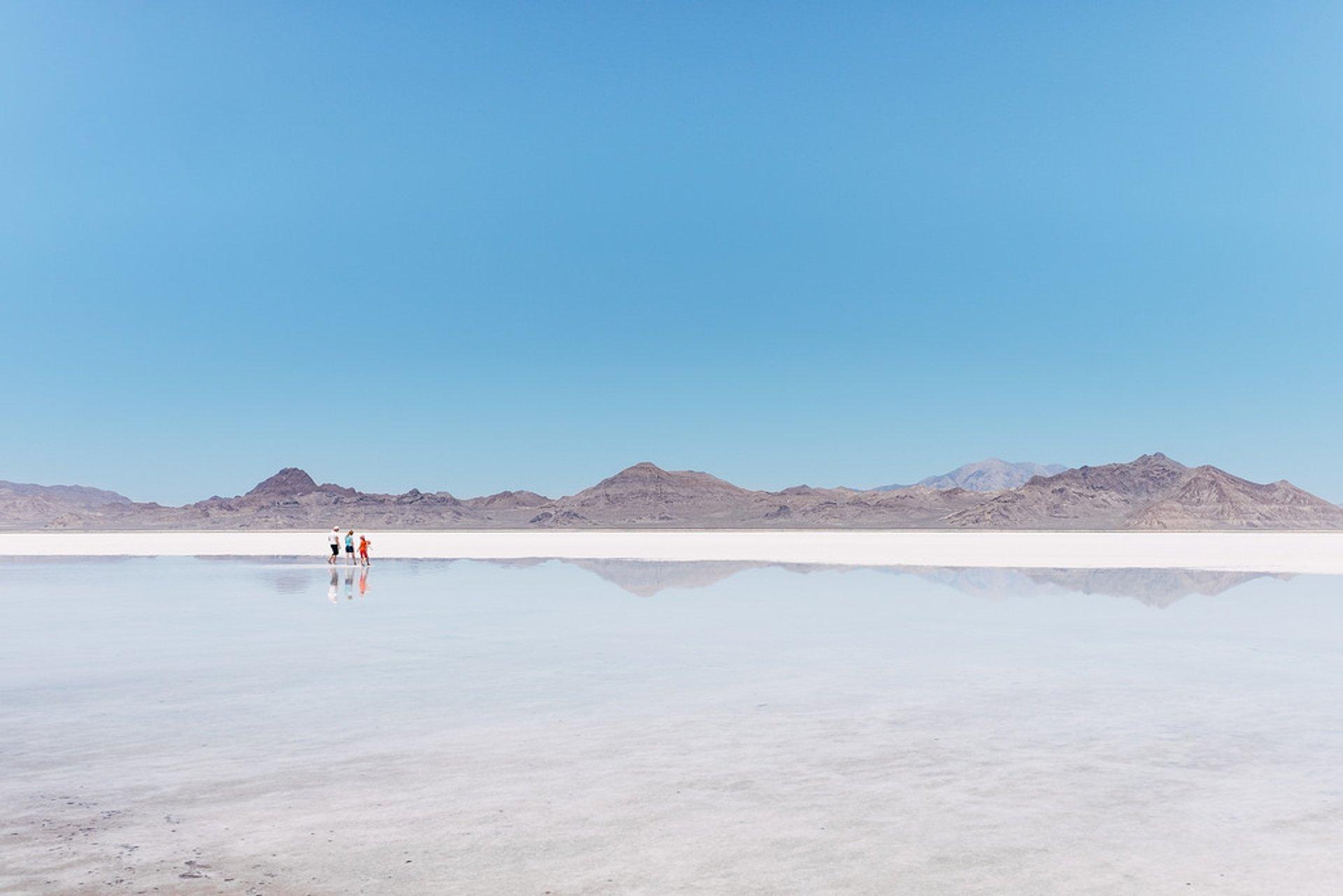 Best time for Flooded Bonneville Salt Flats in Utah 2020