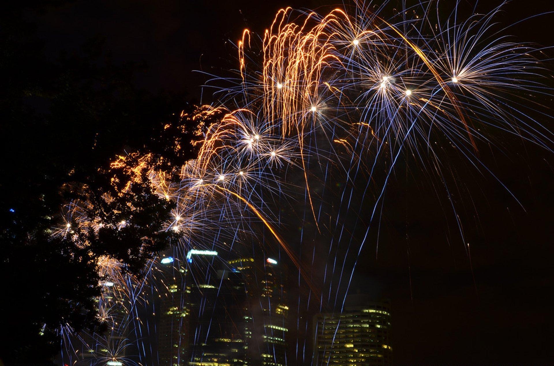 Fireworks at Moomba Festival 2020
