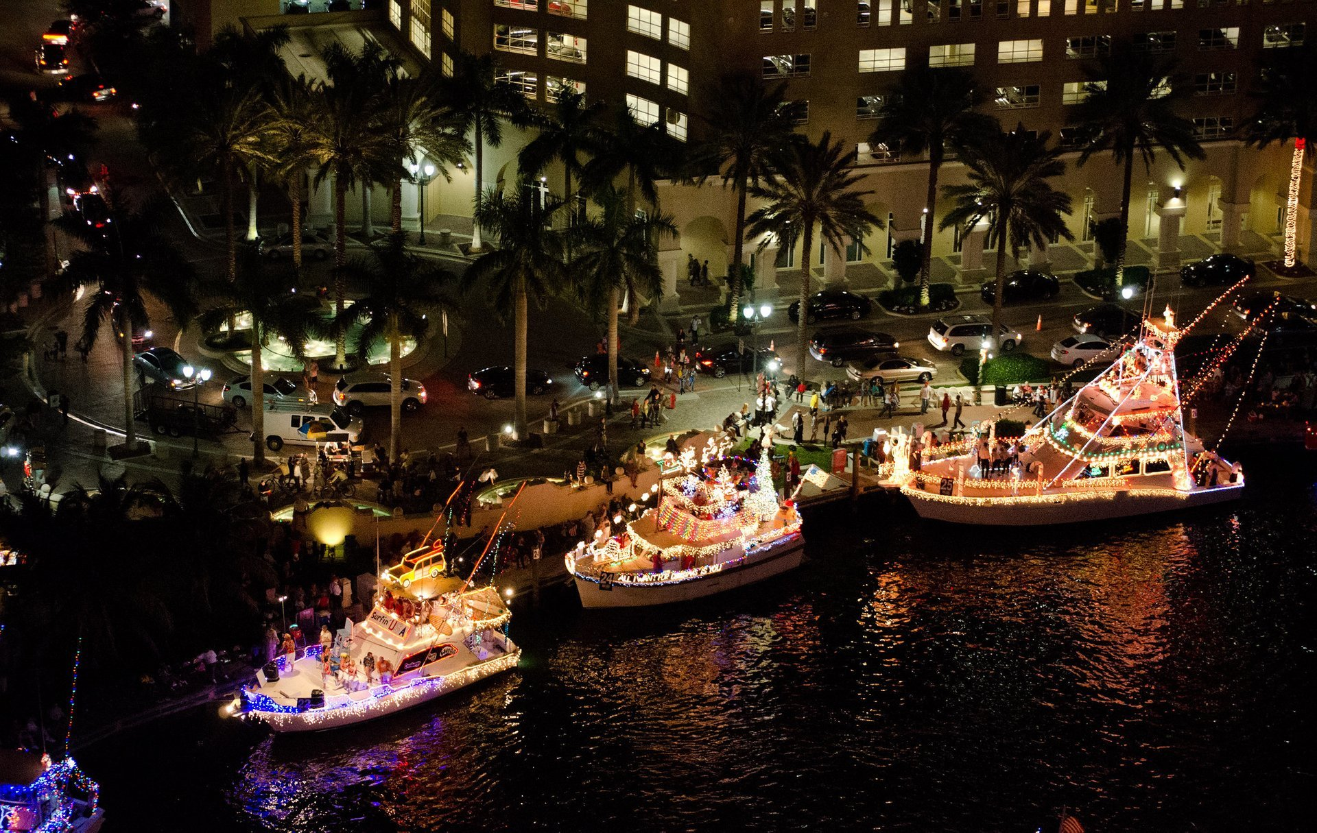 Winterfest Boat Parade in 2012, Downtown  Fort Lauderdale, Florida 2020