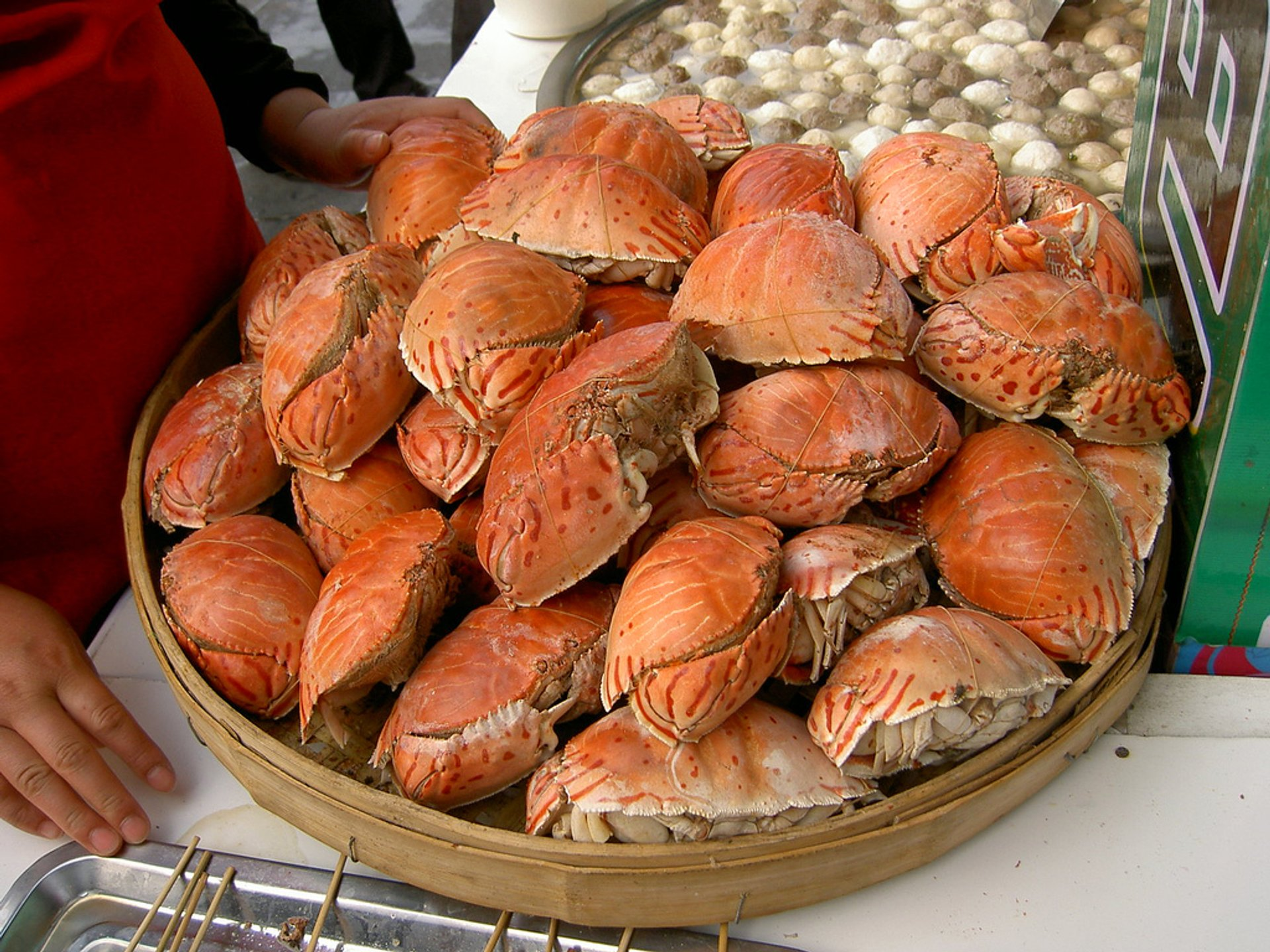 Crab stall during the Fair 2020