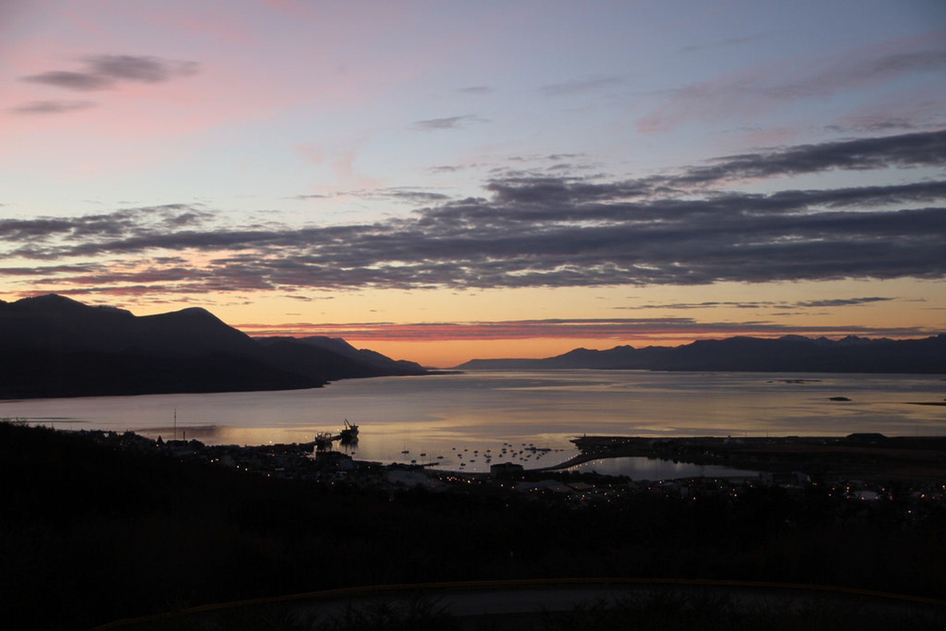 June sunset in Ushuaia