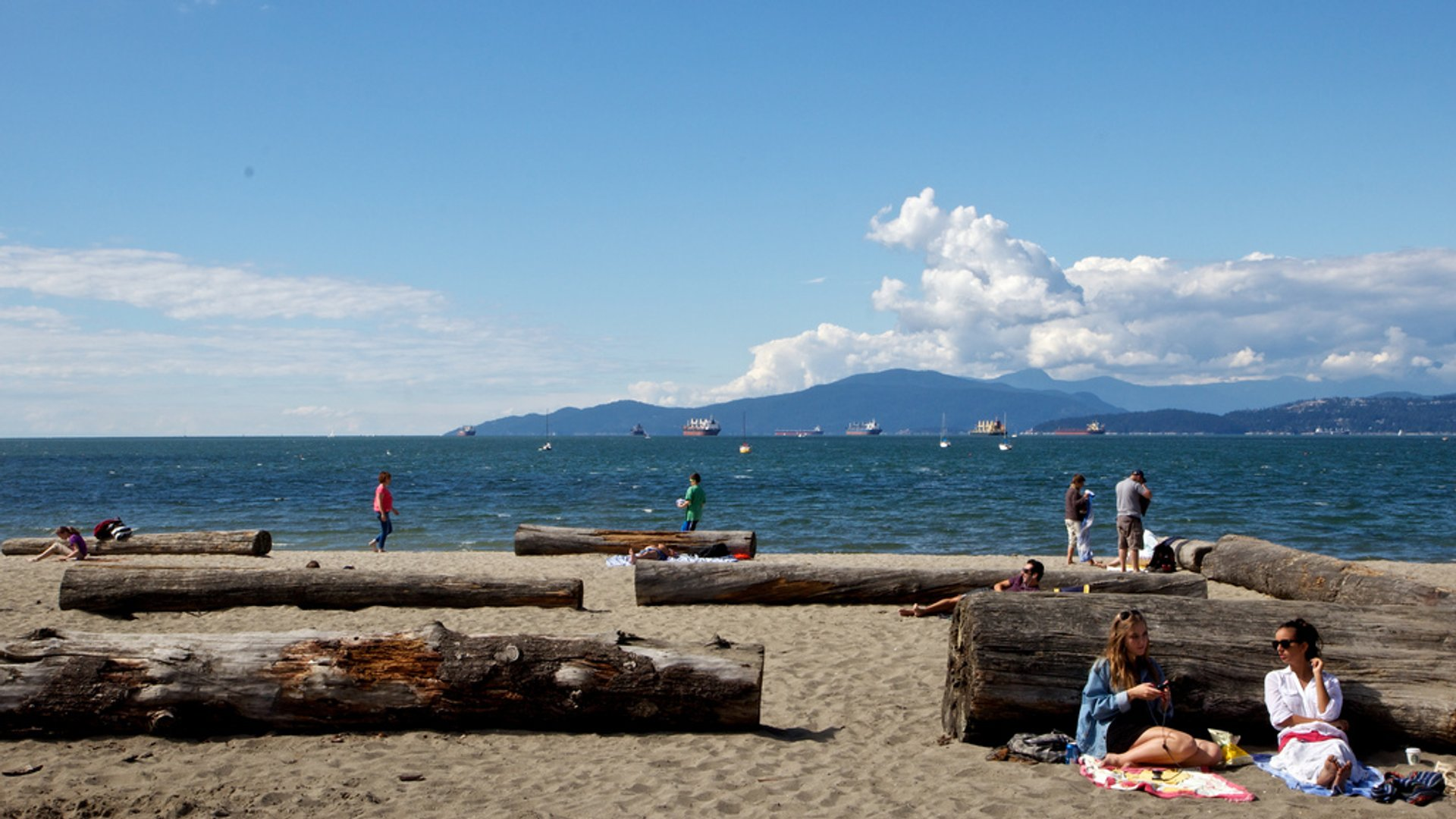 Kitsilano Beach in August 2019