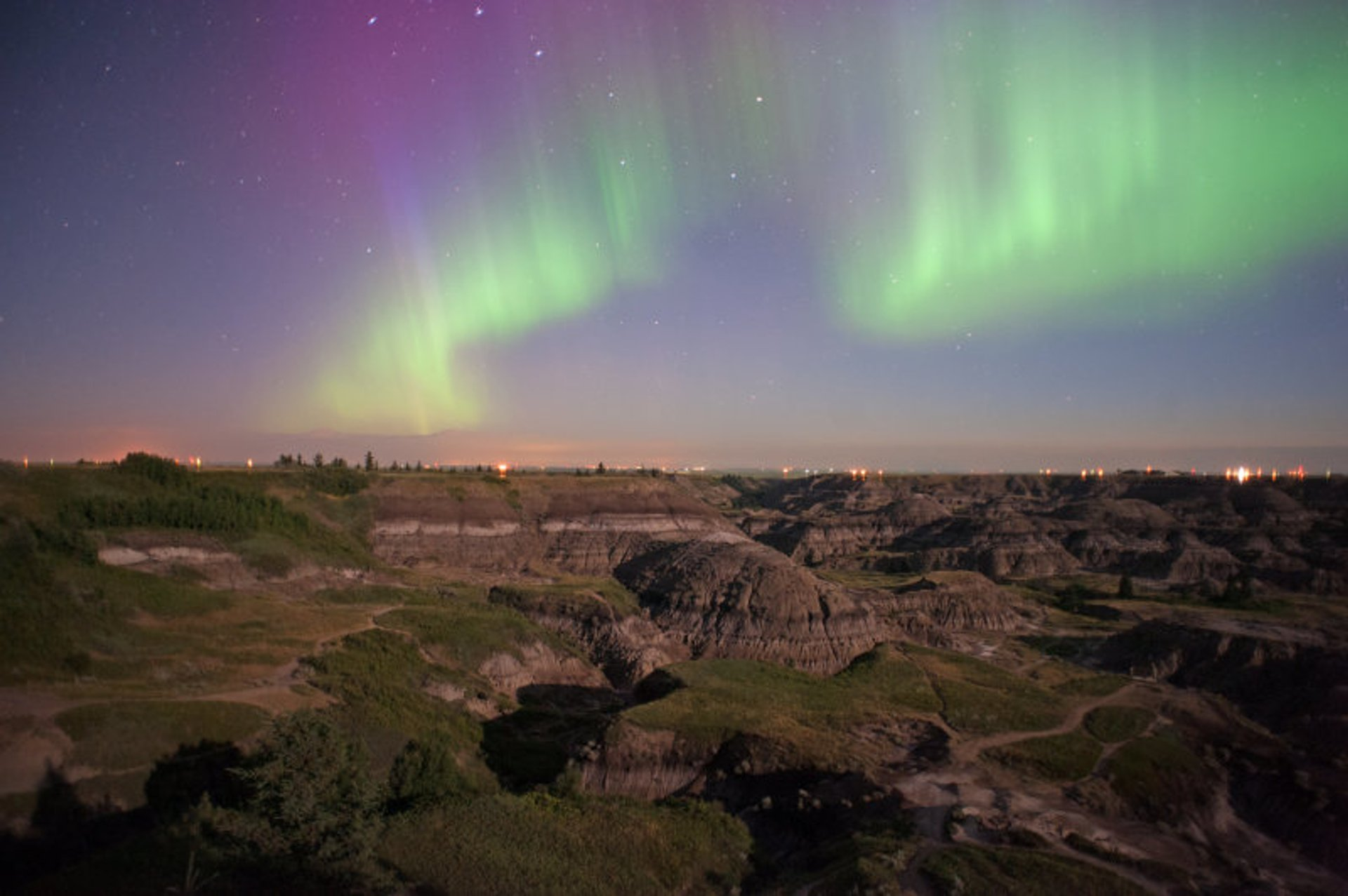 Northern Lights in Horseshoe Canyon 2020