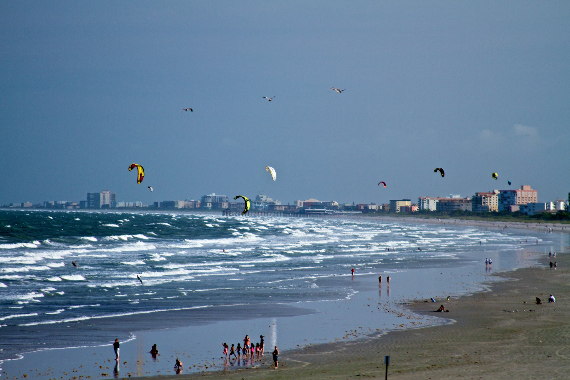 Kiteboarders near Port Canaveral 2020