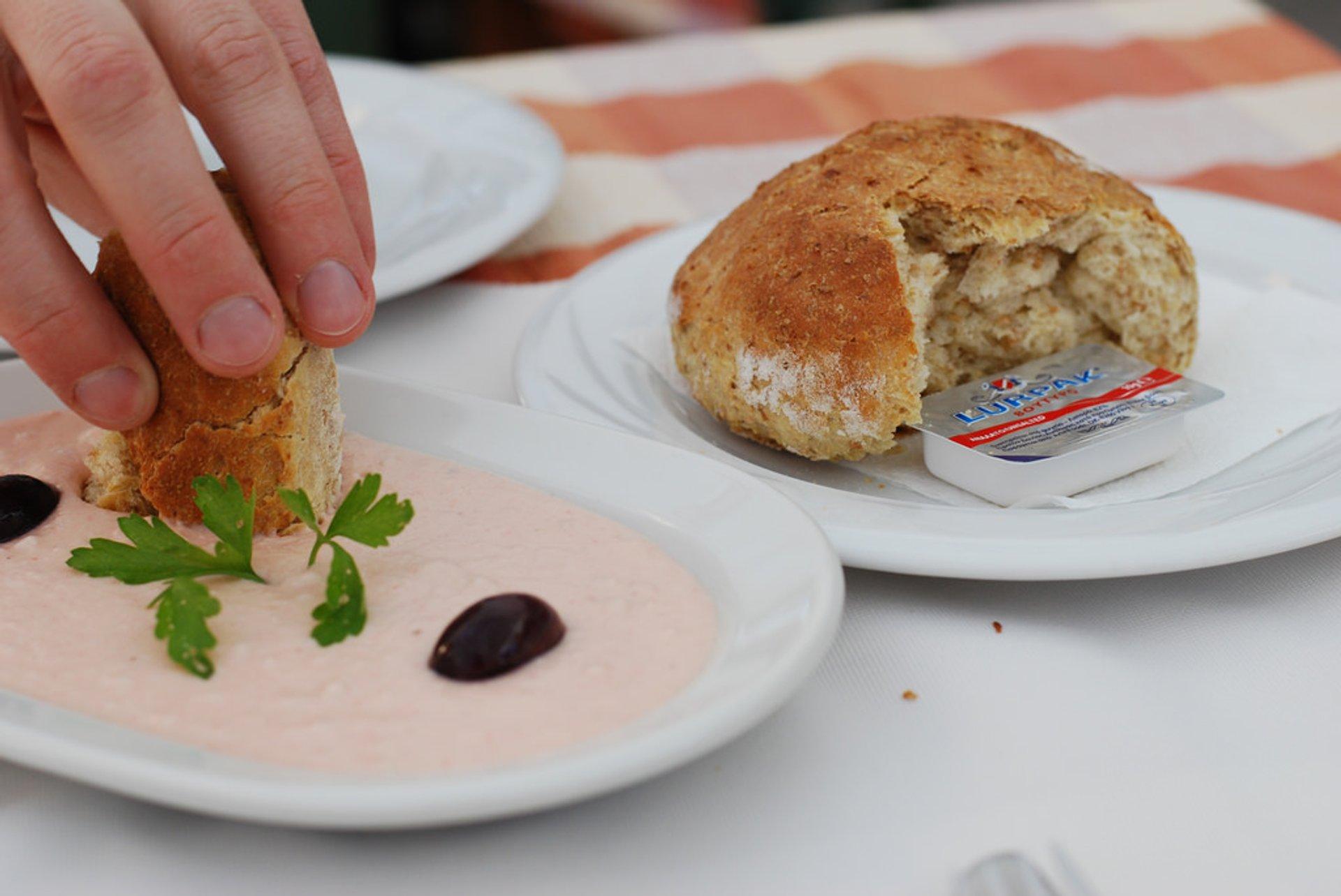 Taramosalata or Fish Roe Dip in Athens - Best Season 2019