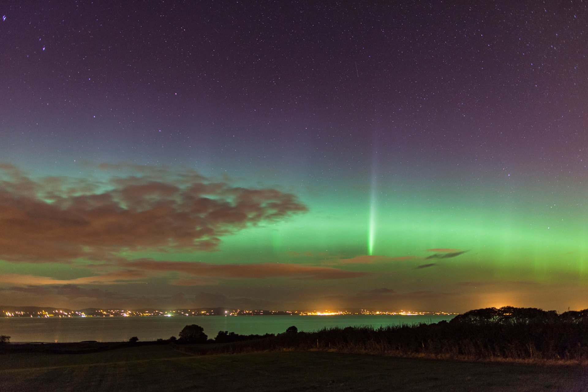 Aurora from Tullyverry, Northern Ireland 2019