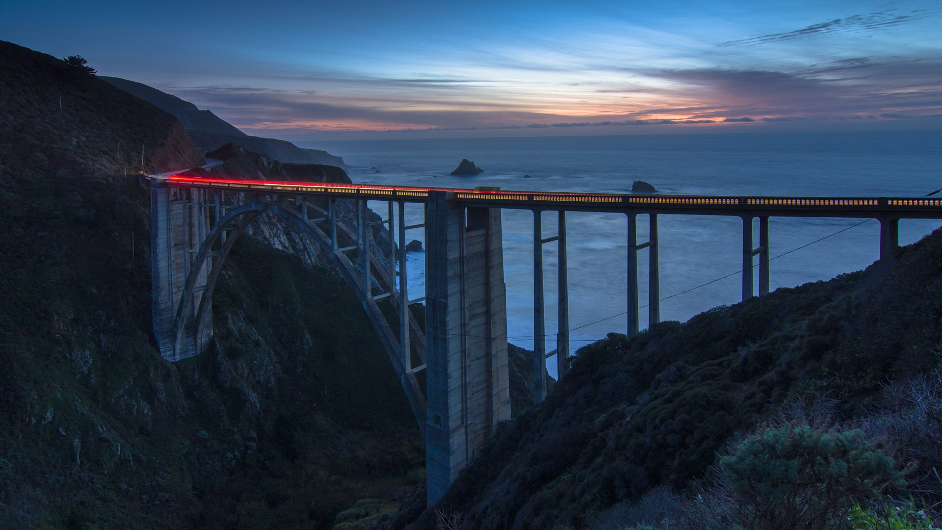 Bixby Bridge, Big Sur coast of California 2019