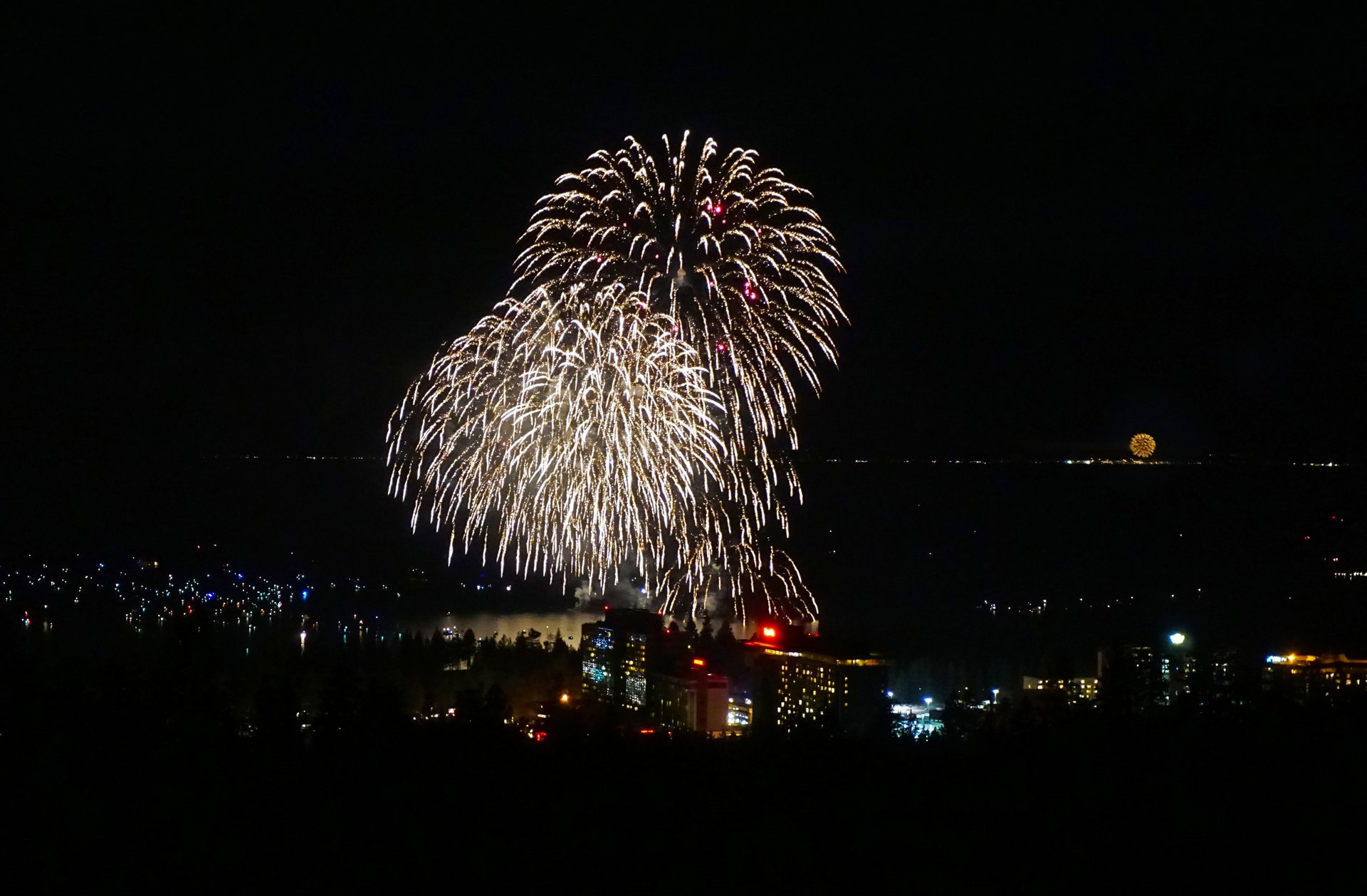 July 4th Fireworks over South Lake Tahoe 2020