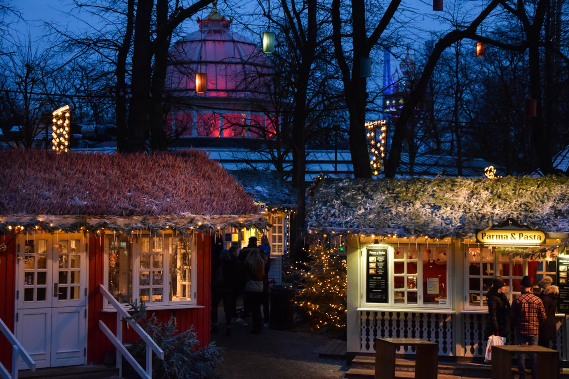 Christmas market at Tivoli, Copenhagen 2020