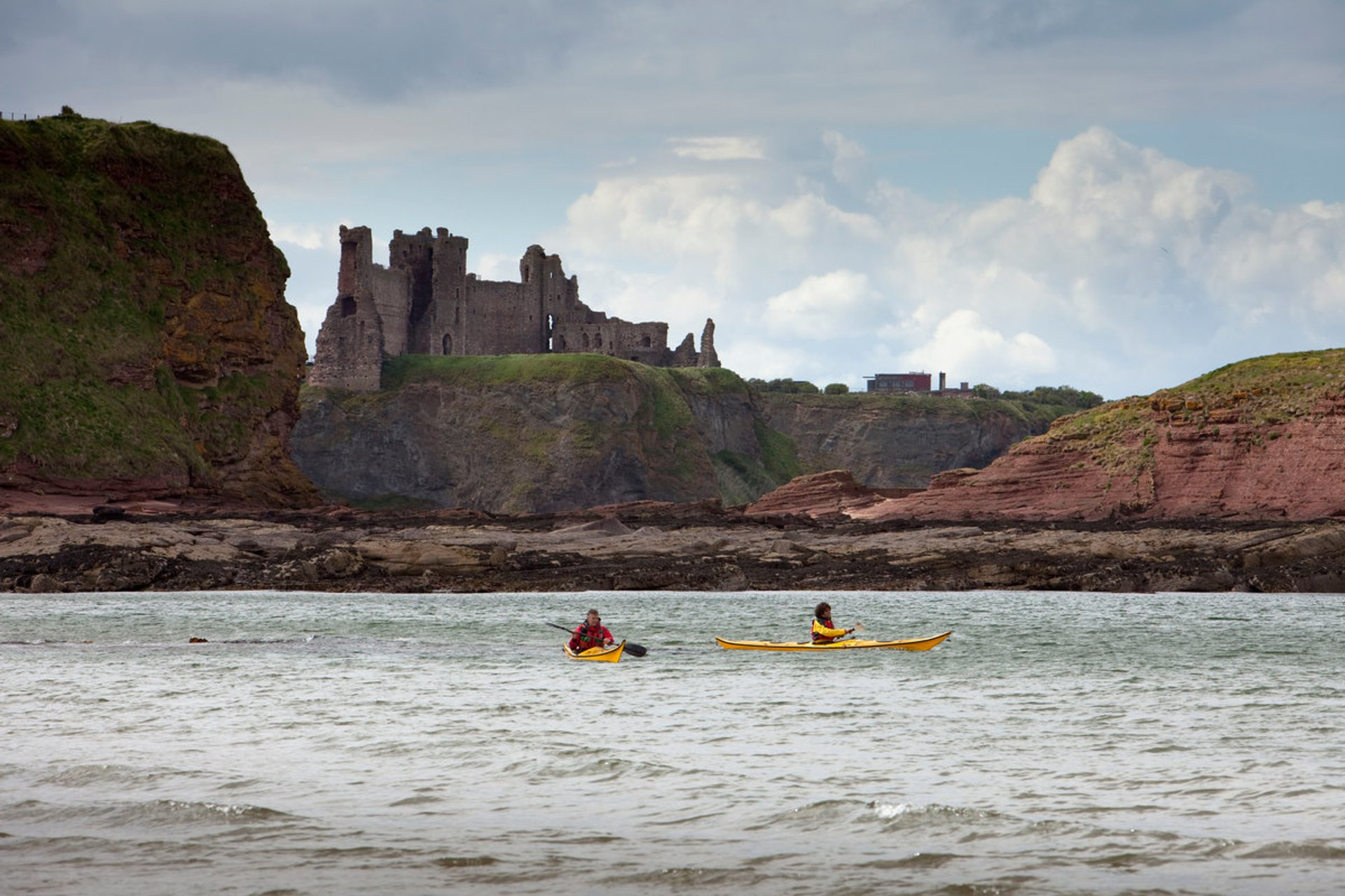 Kayaking with a view of the Castle on the Isle of Lewis