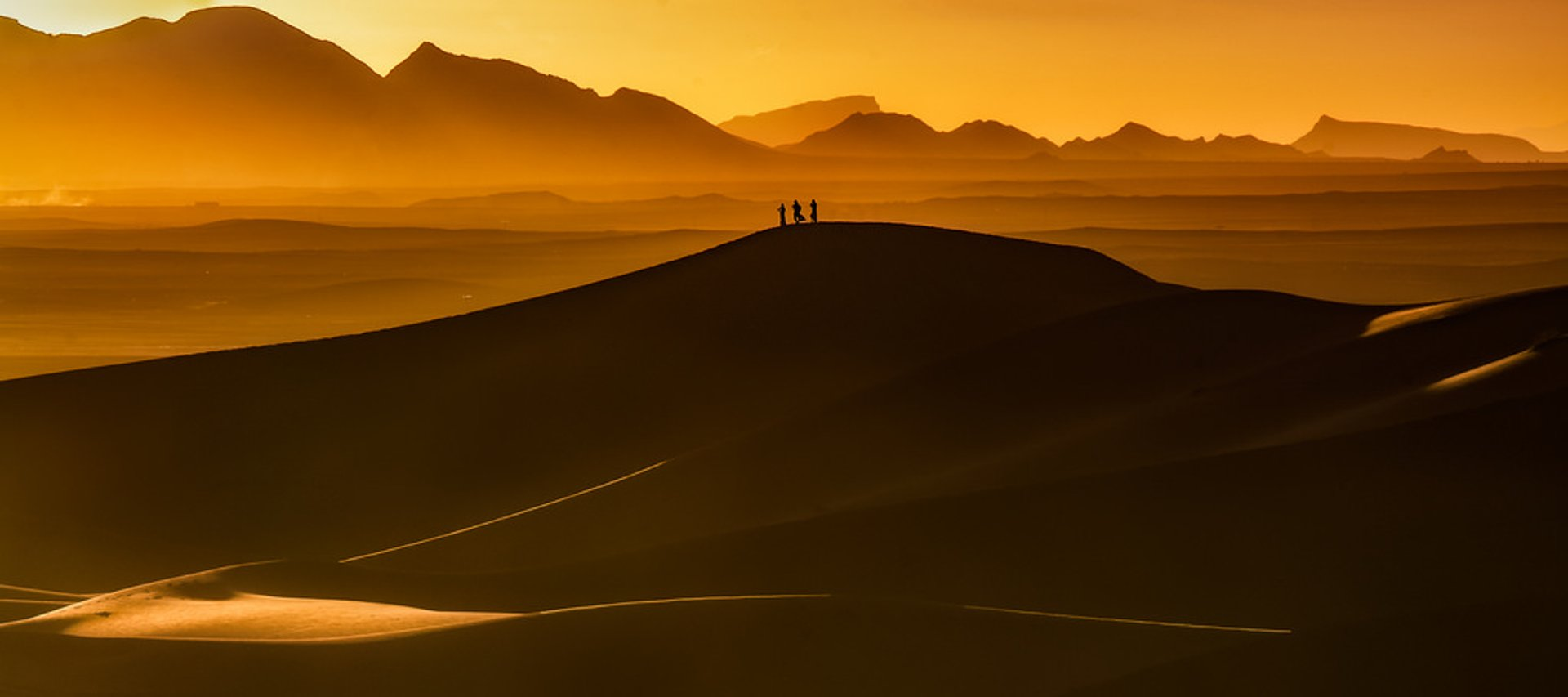 Sunset over the Sahara Desert  2019