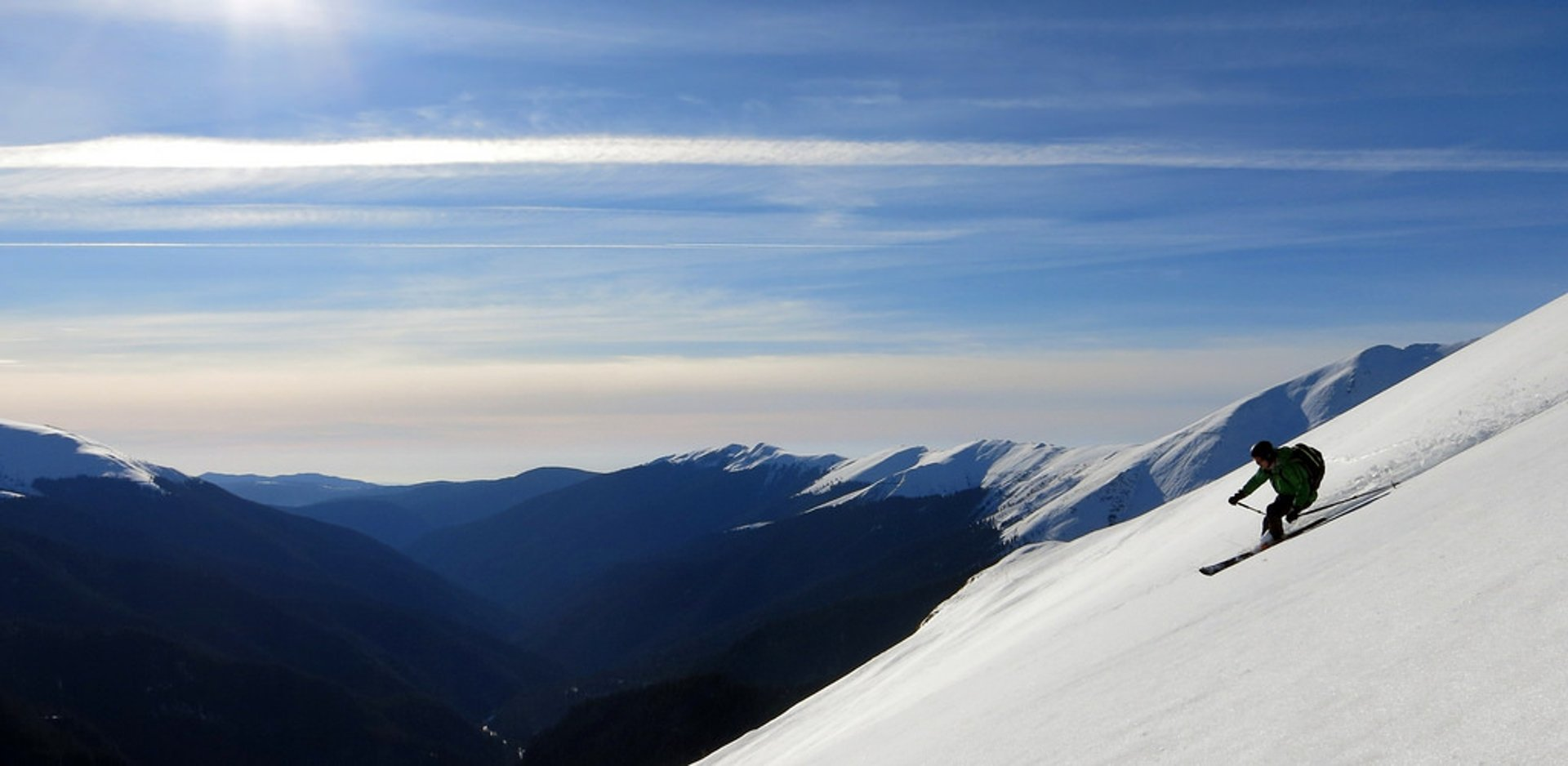 Fagarash Mountains (Romania) early season skiing 2020
