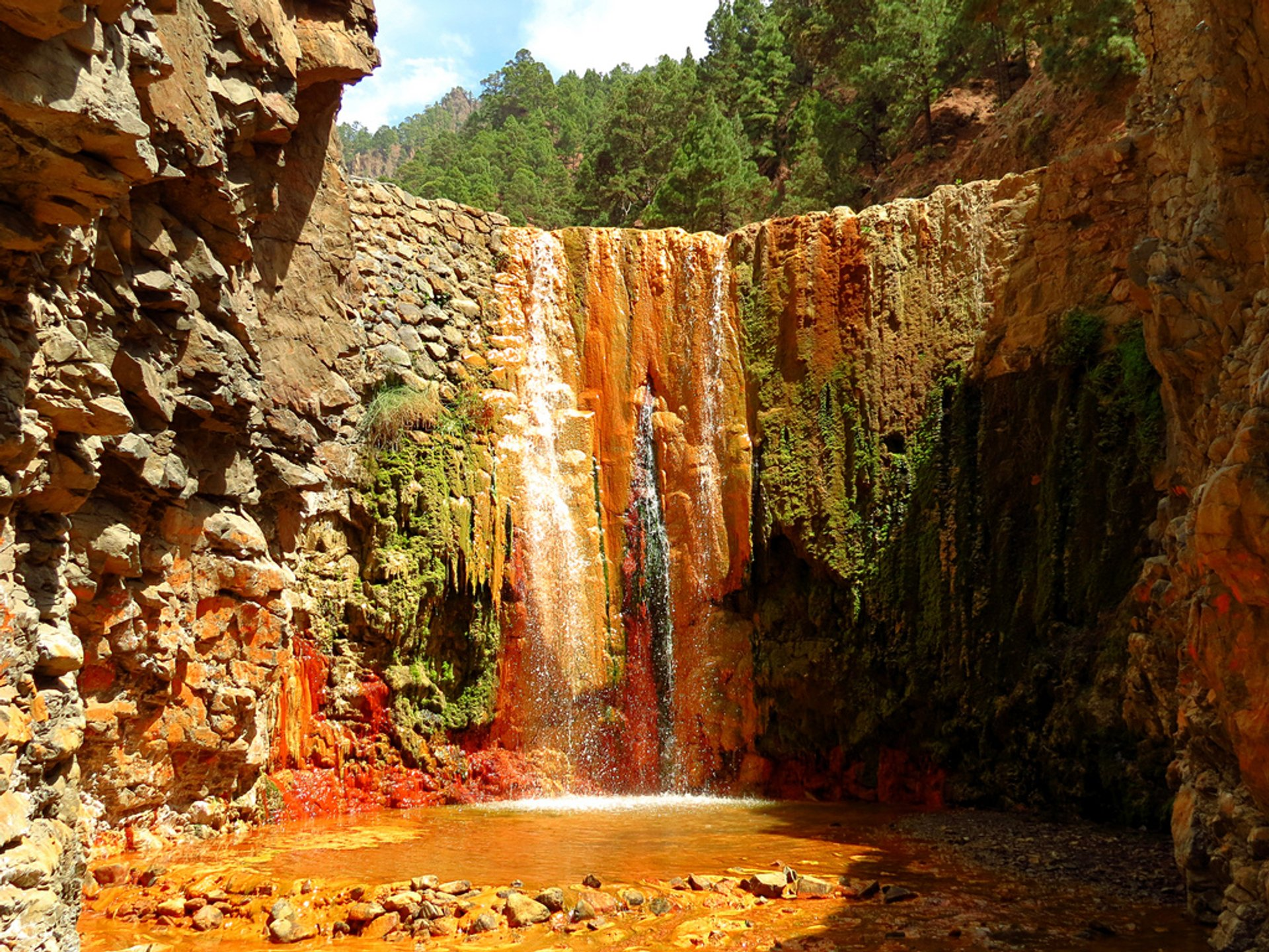 Cascade of Colours in Caldera de Taburiente in Canary Islands 2020 - Best Time