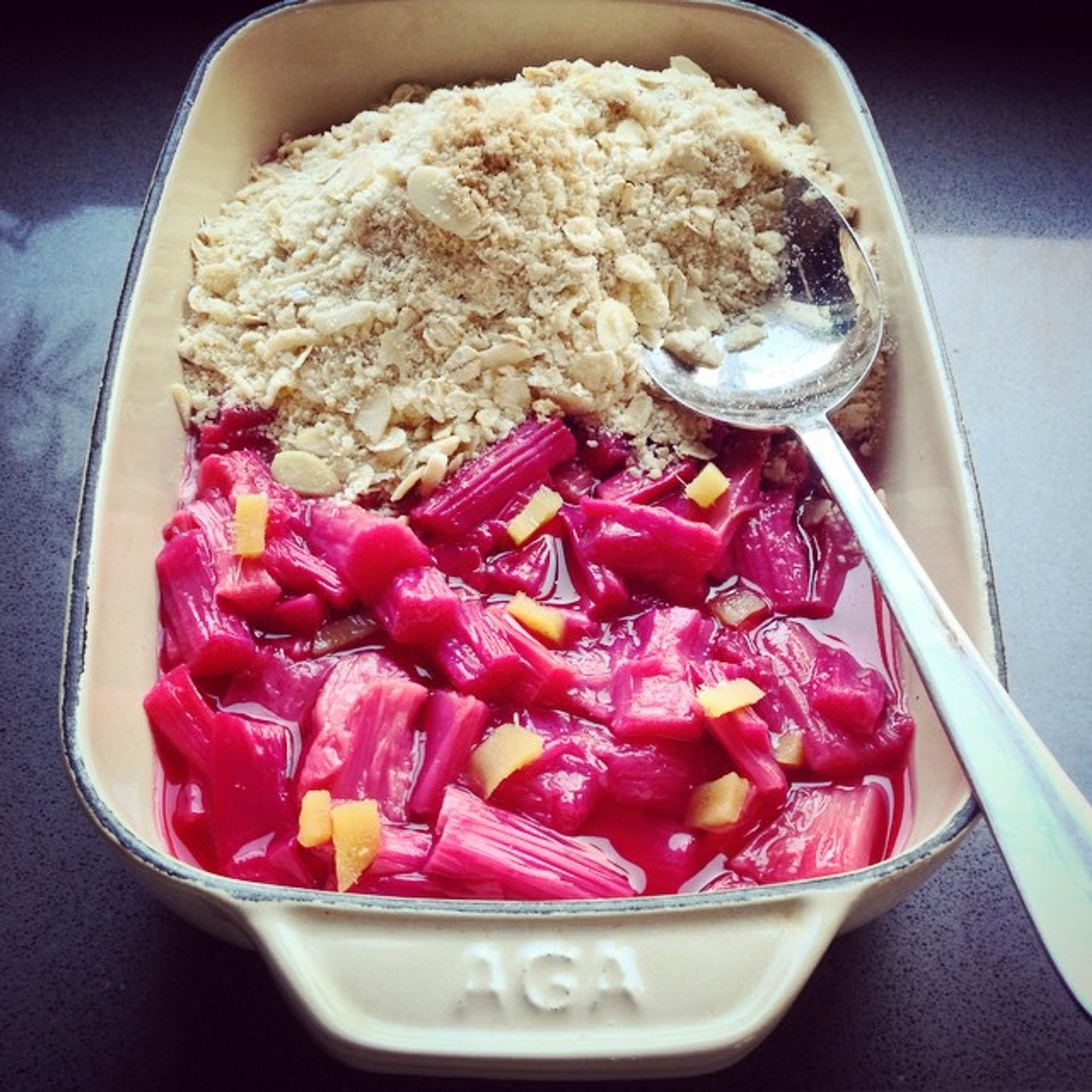 Rhubarb and Ginger Crumble in London 2019 - Best Time