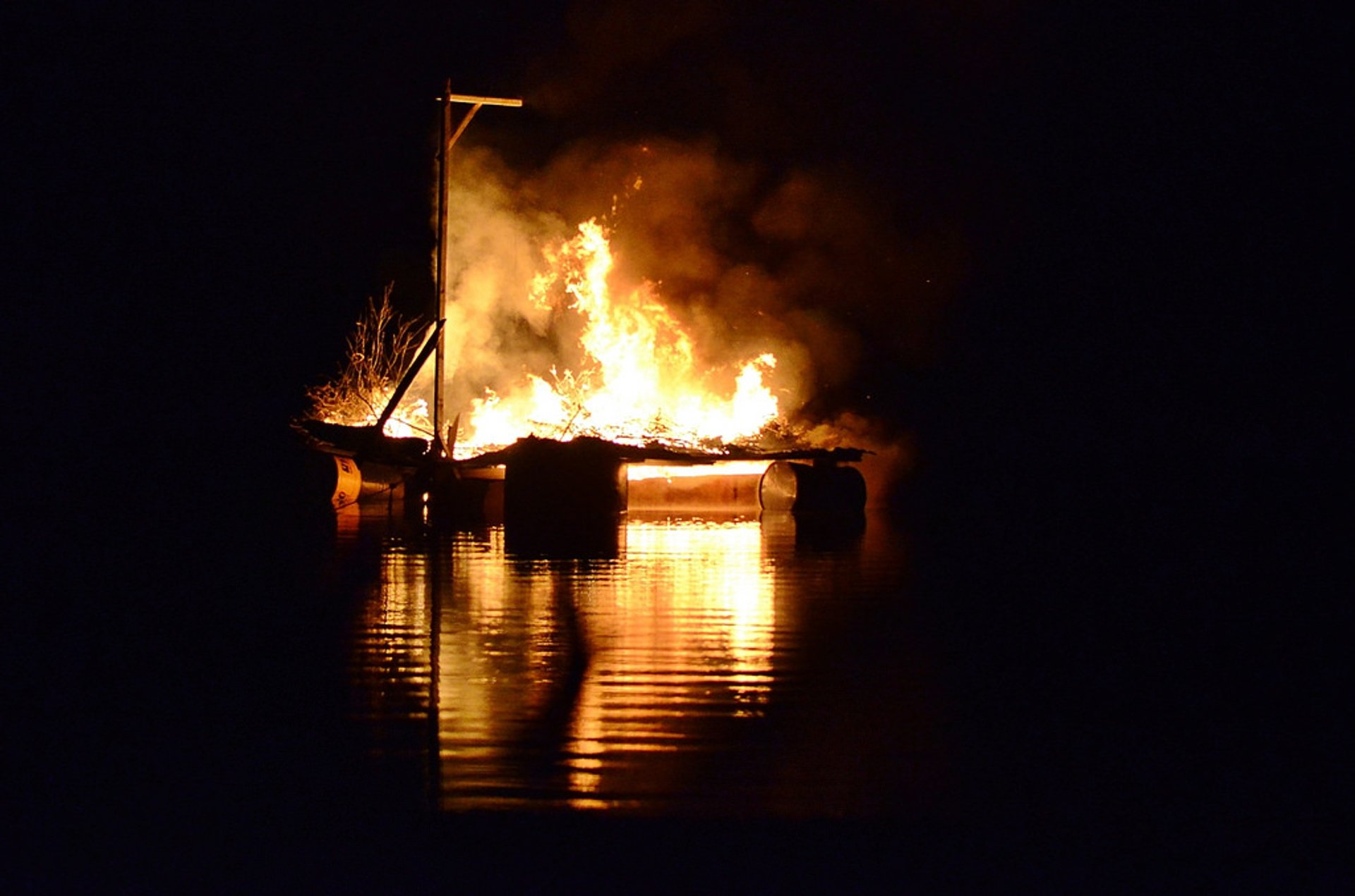 The burning of Judas 2020