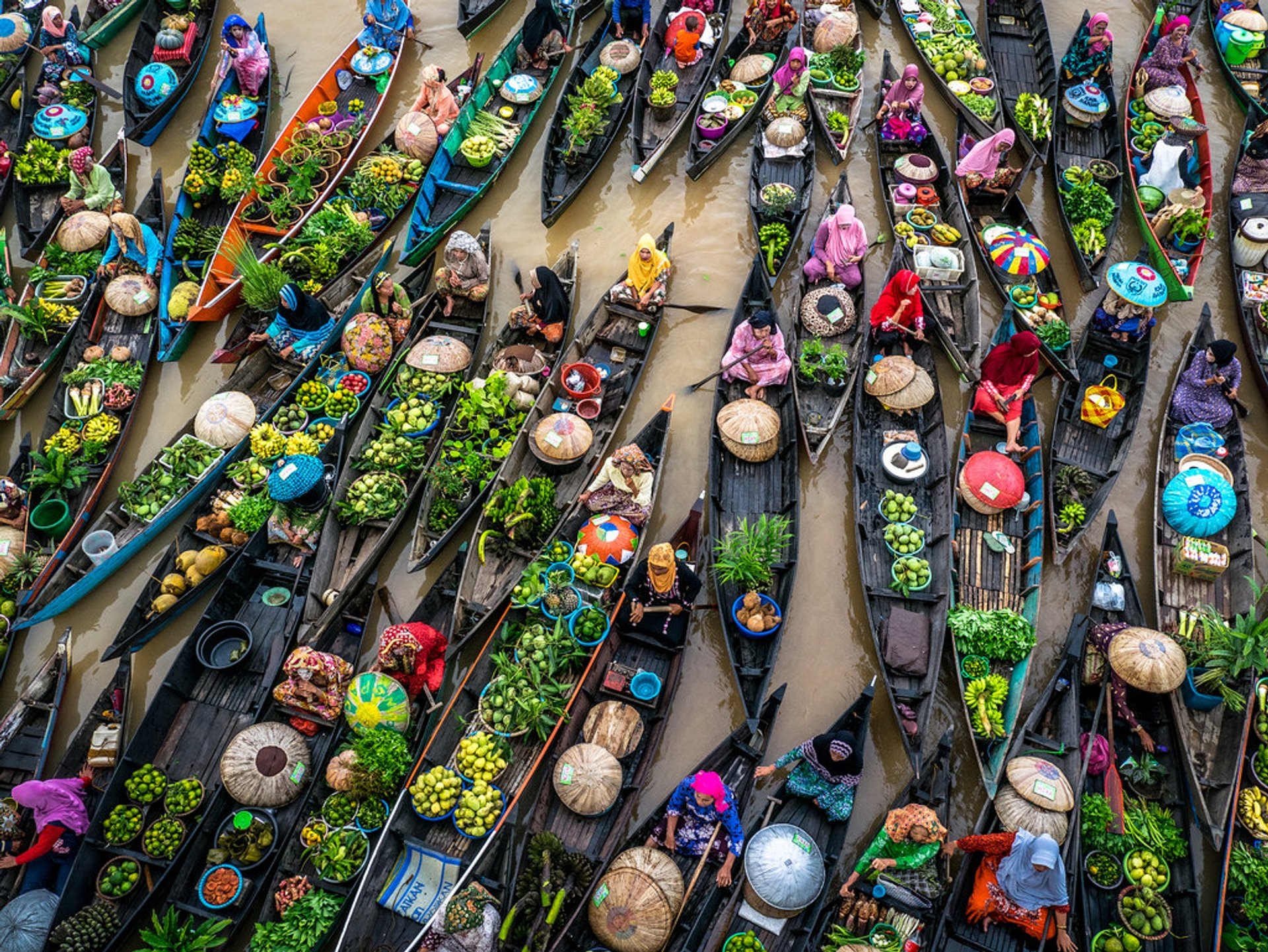 Banjarmasin Floating Markets in Borneo - Best Time