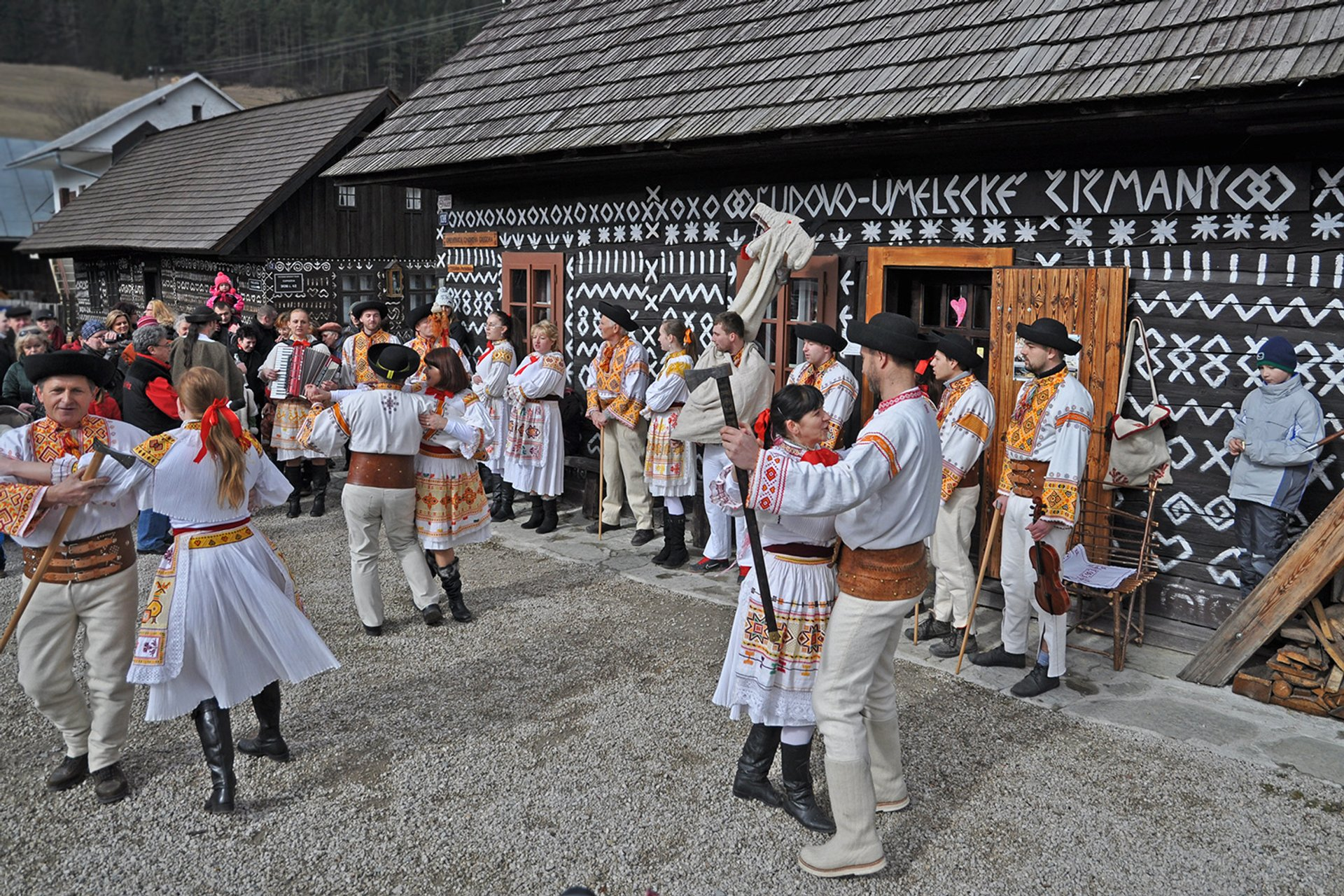 Fašiangy Carnival in Čičmany Village in Slovakia - Best Season 2019