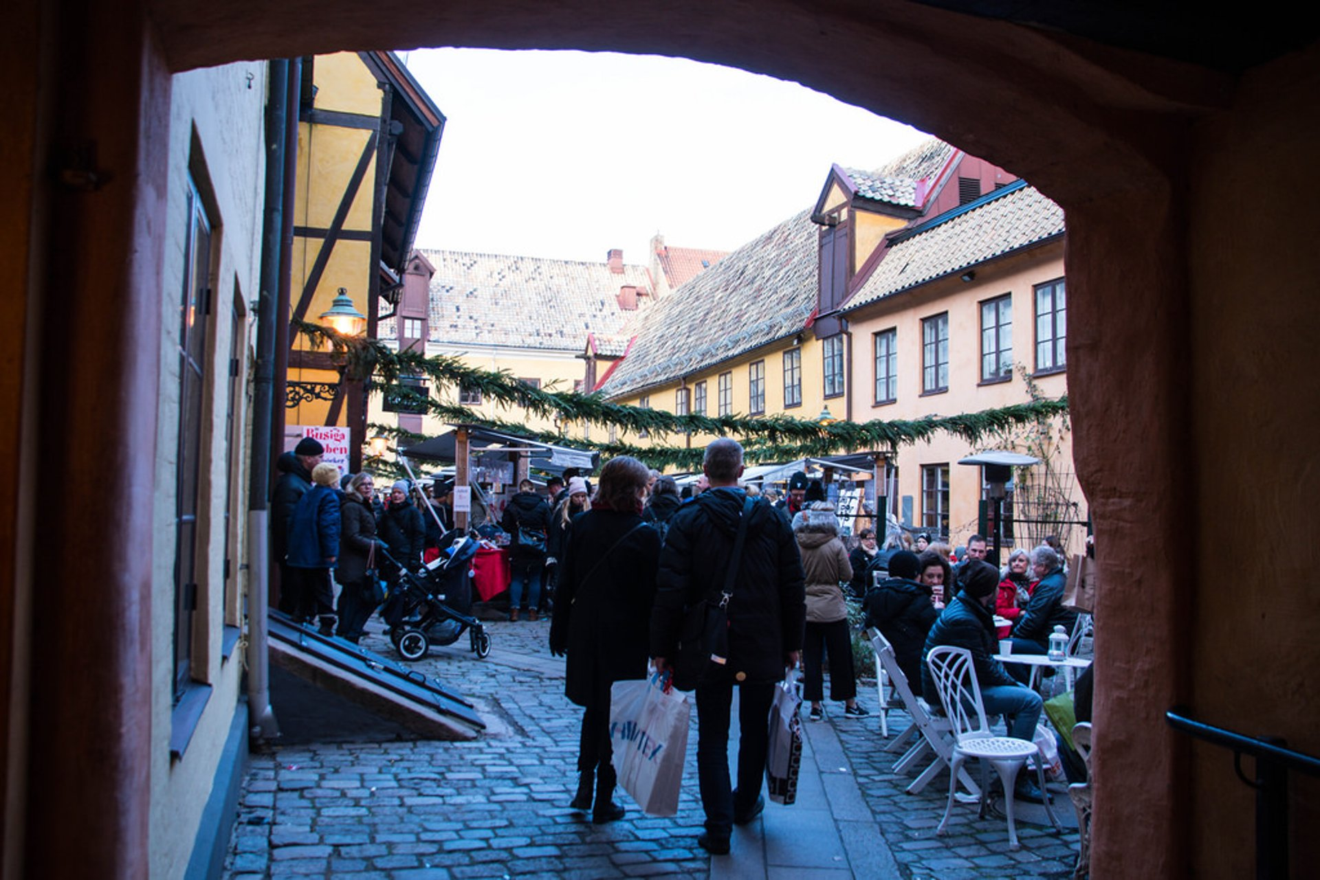Malmö Christmas market in the Old Town 2020