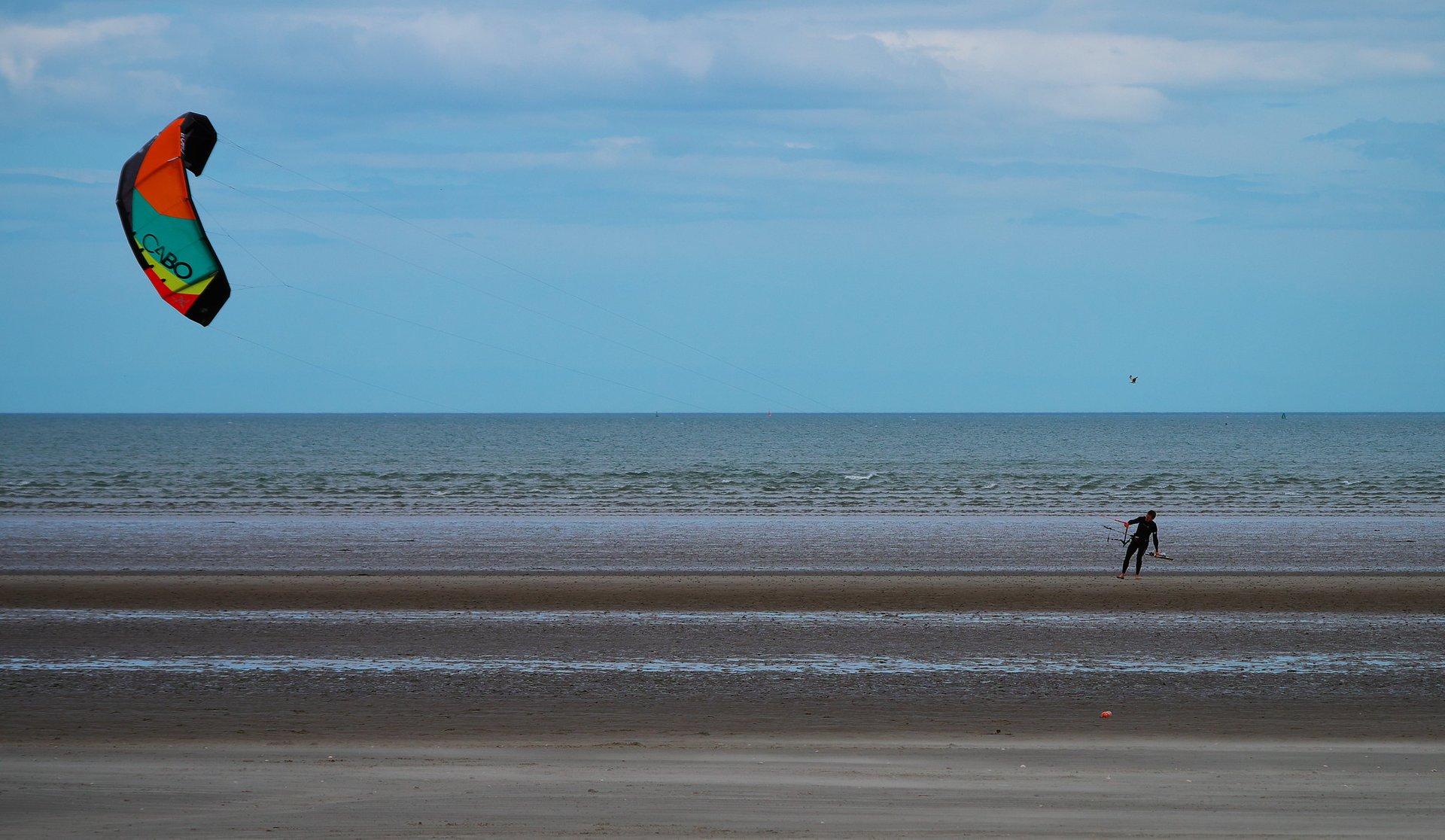 Kitesurfing near Dublin 2020