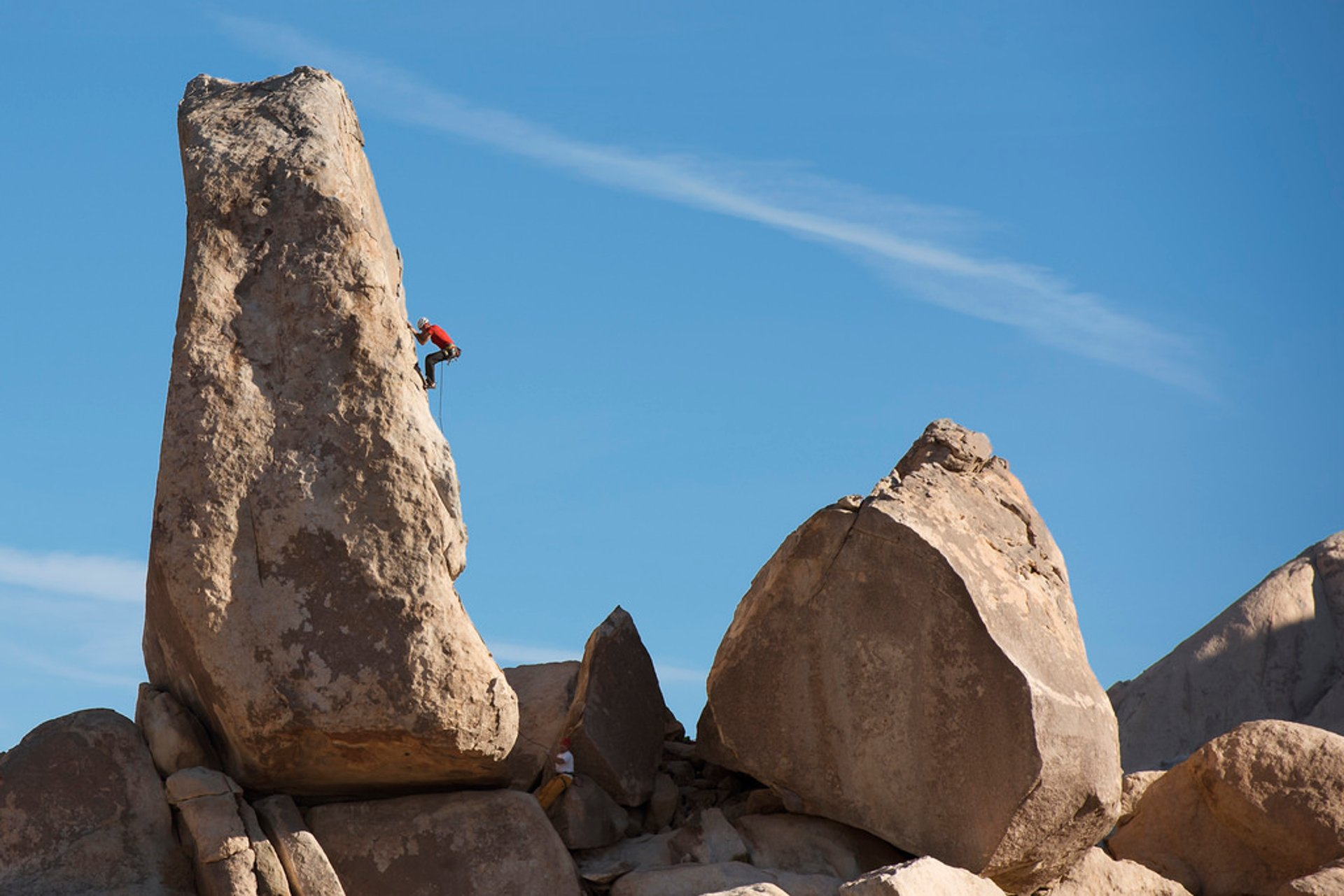 Climber at Headstone Rock 2020
