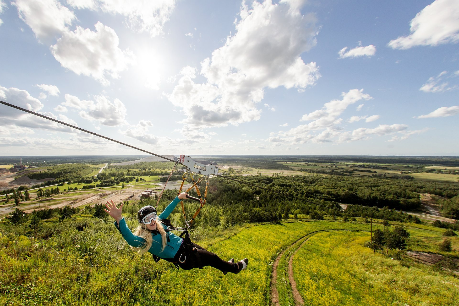 Zip-Line in Kiviõli in Estonia 2020 - Best Time