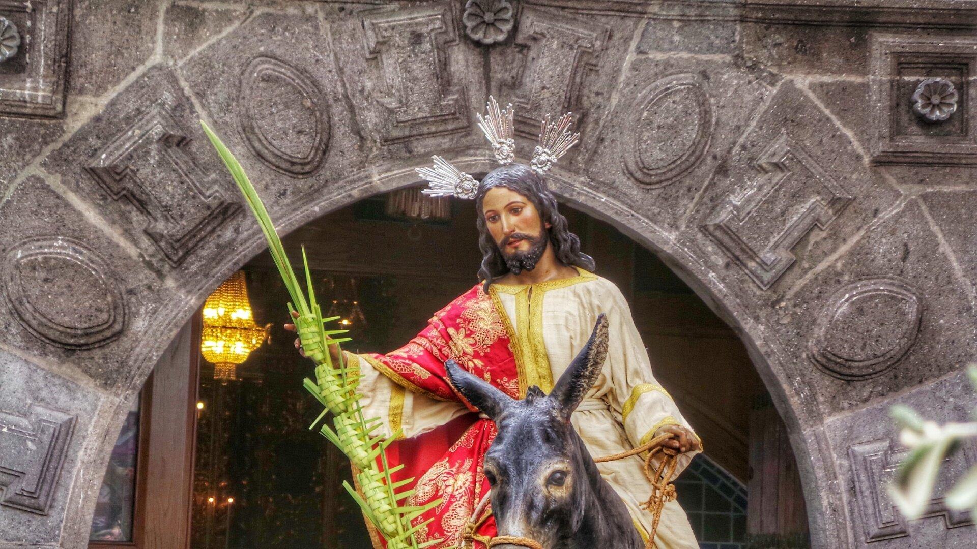 Procession of La Burrita on Palm Sunday in Las Palmas de Gran Canaria 2020