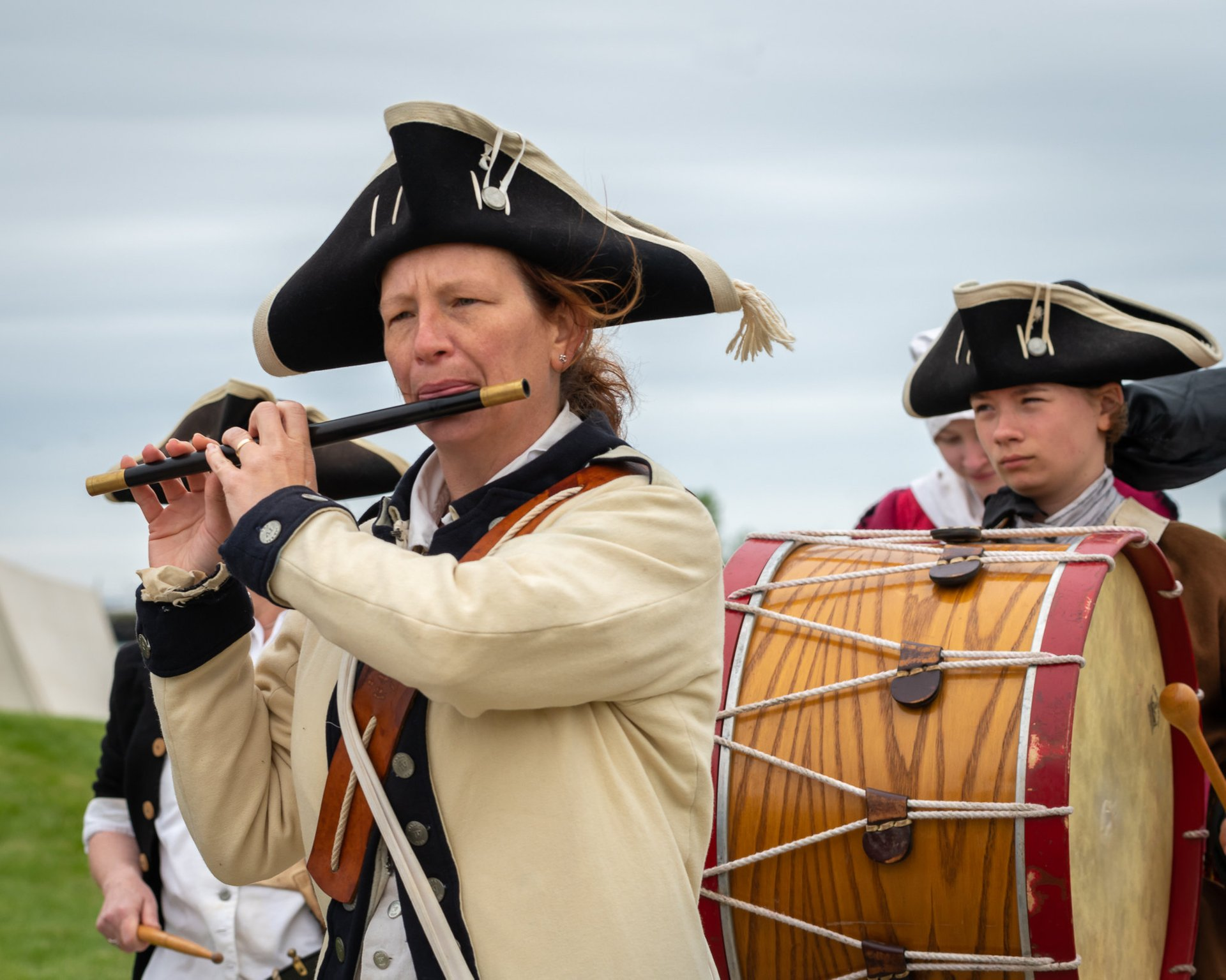 Fife and drum at the Pirate Family Daze in Port Washington 2020