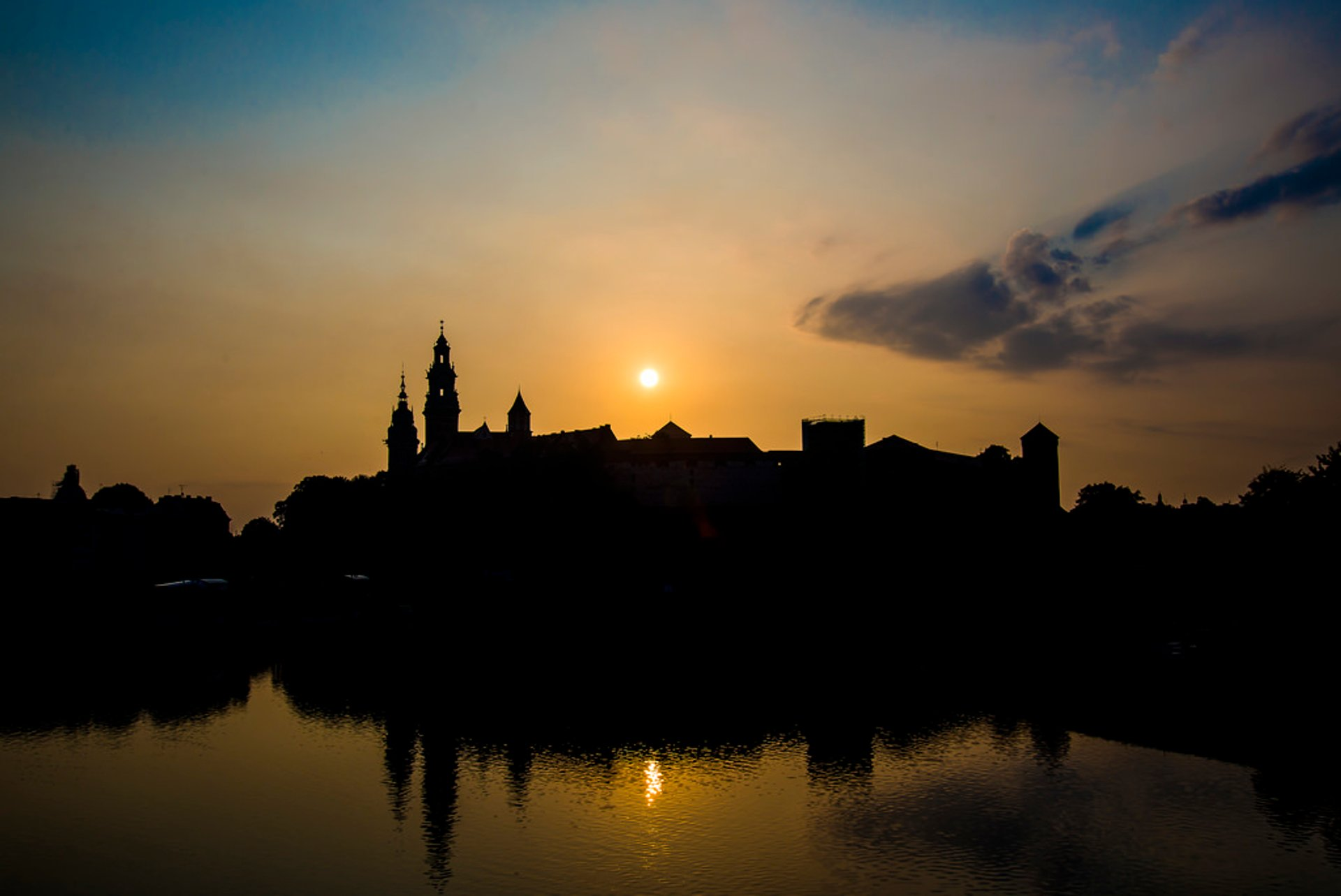Sunrise near Wawel, Krakow