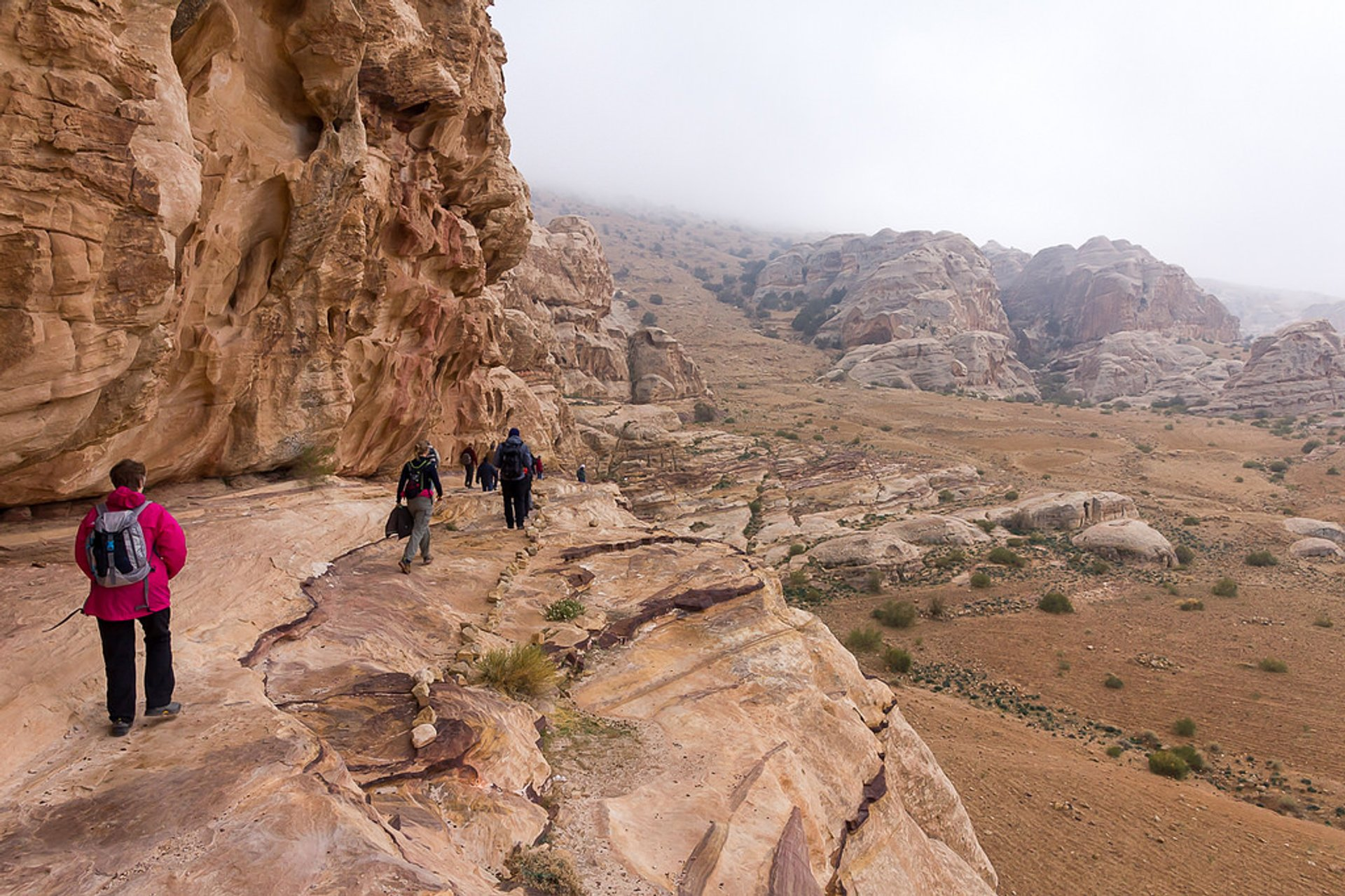 Hiking to Petra