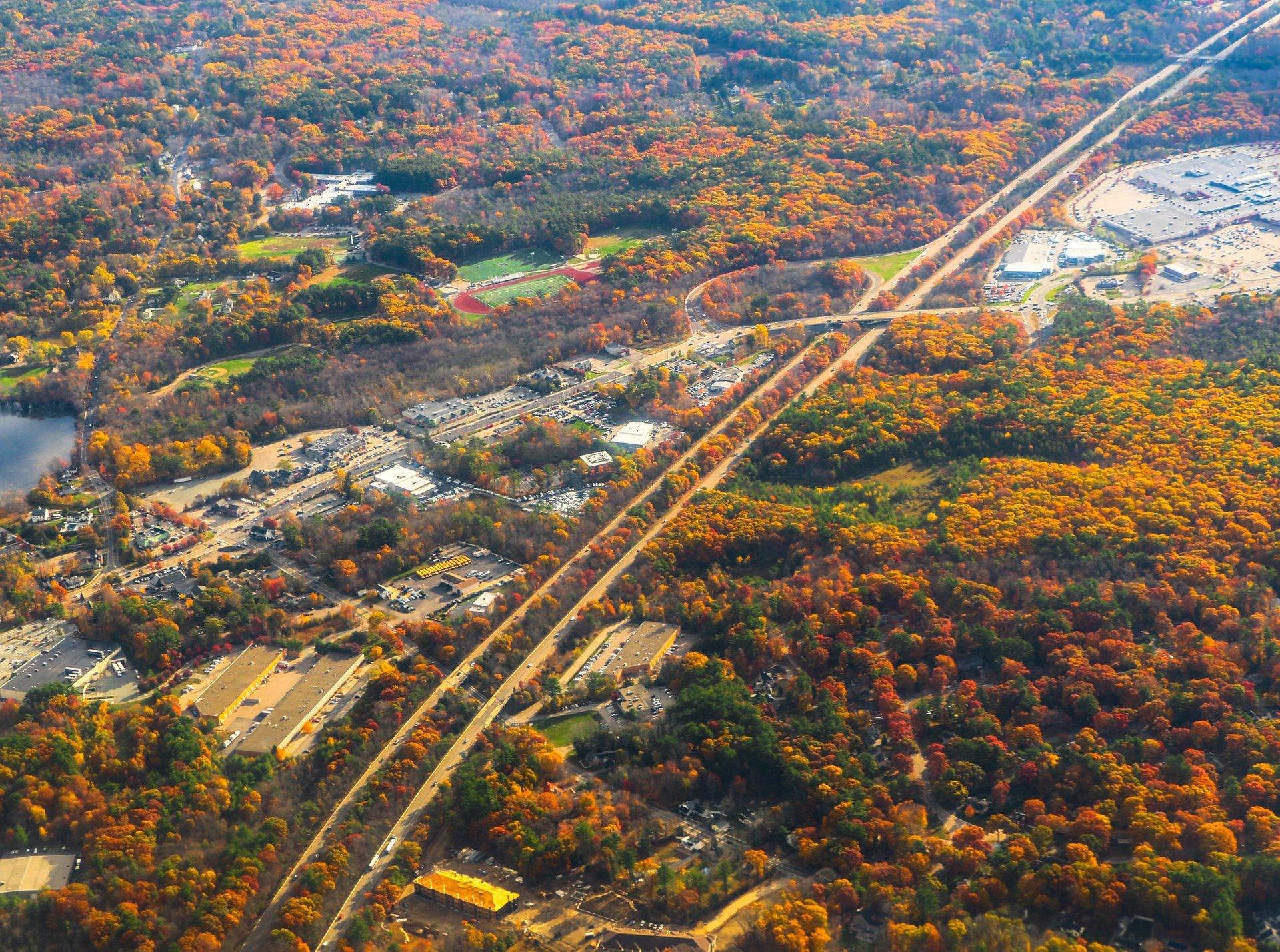 Fall foliage outside Boston 2020