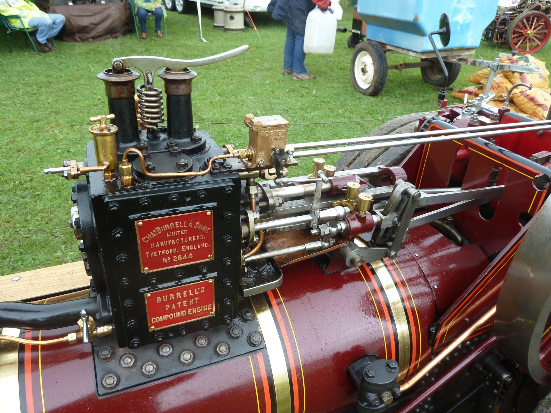 Burrell single crank compound, valvechest side, Abergavenny Steam Rally 2012 2020