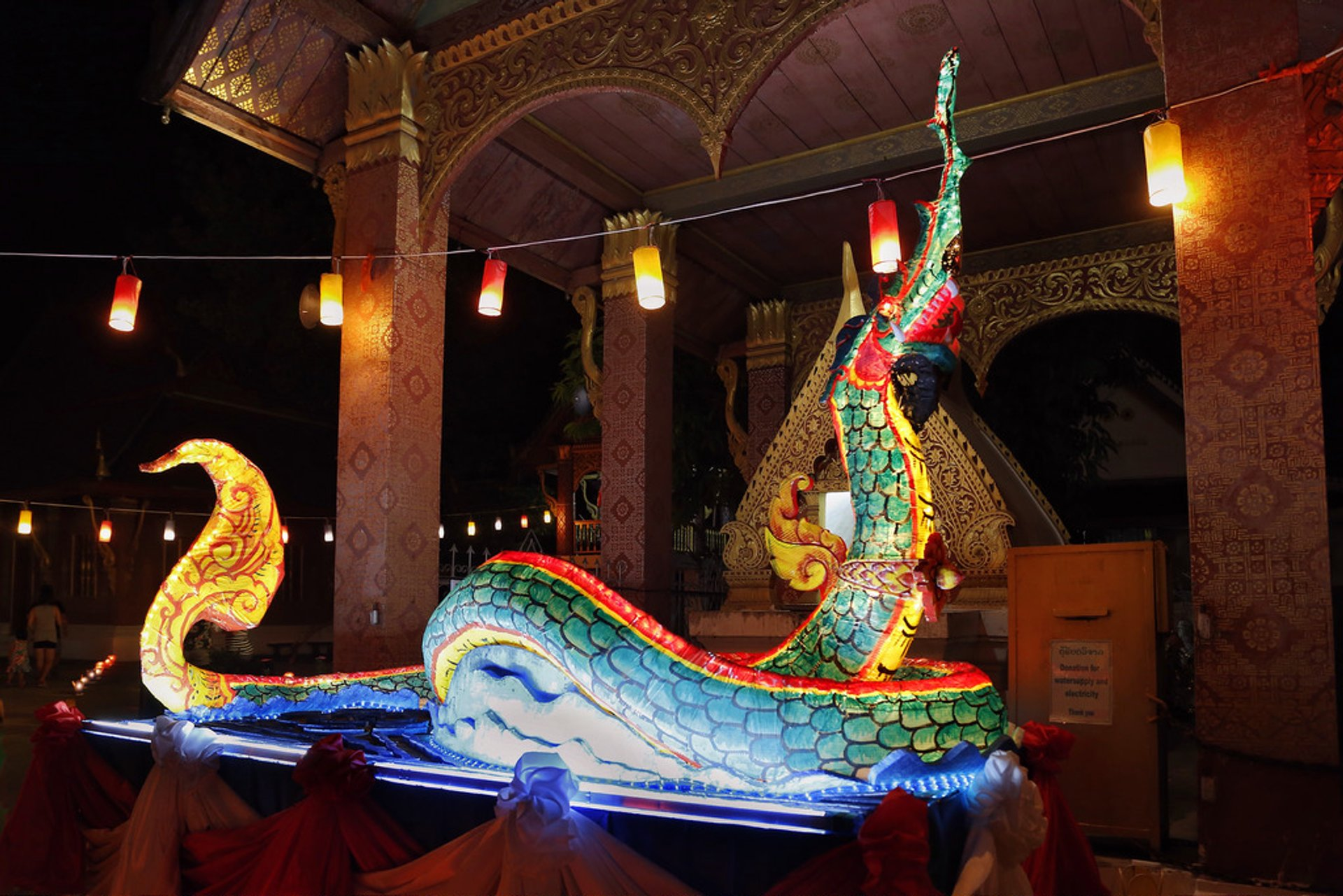 Decorations for Boun Awk Phansa in Luang Prabang 2020