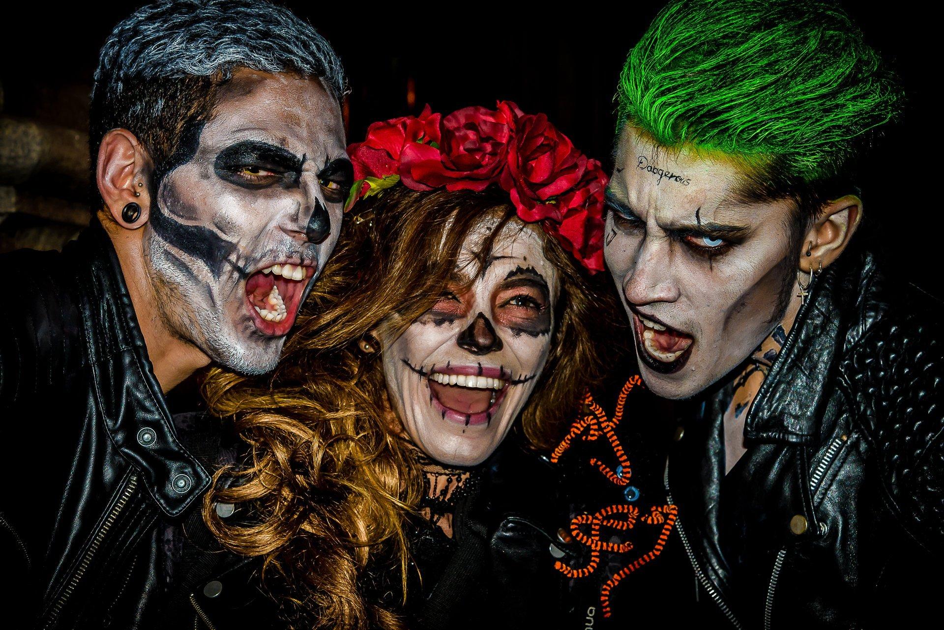 Halloween celebration in Gran Vía de Madrid 2020