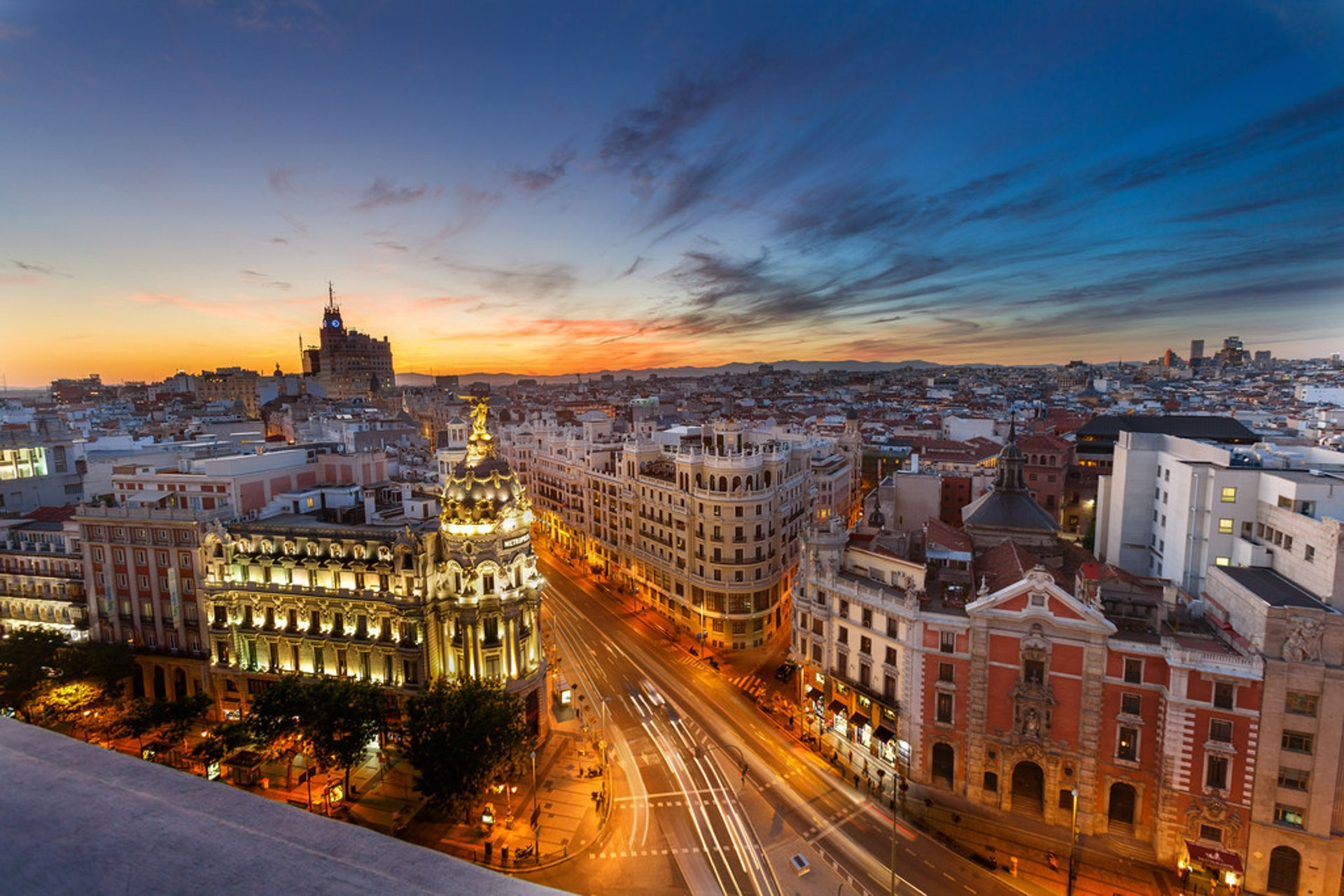 Rooftop Terraces at Sunset in Madrid 2020 - Best Time