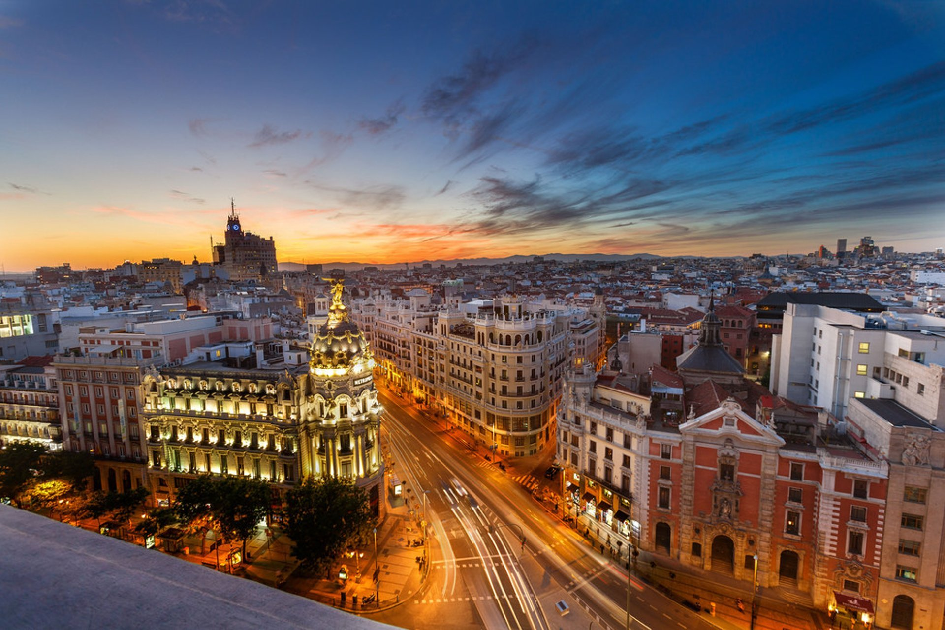 Rooftop Terraces at Sunset in Madrid 2019 - Best Time