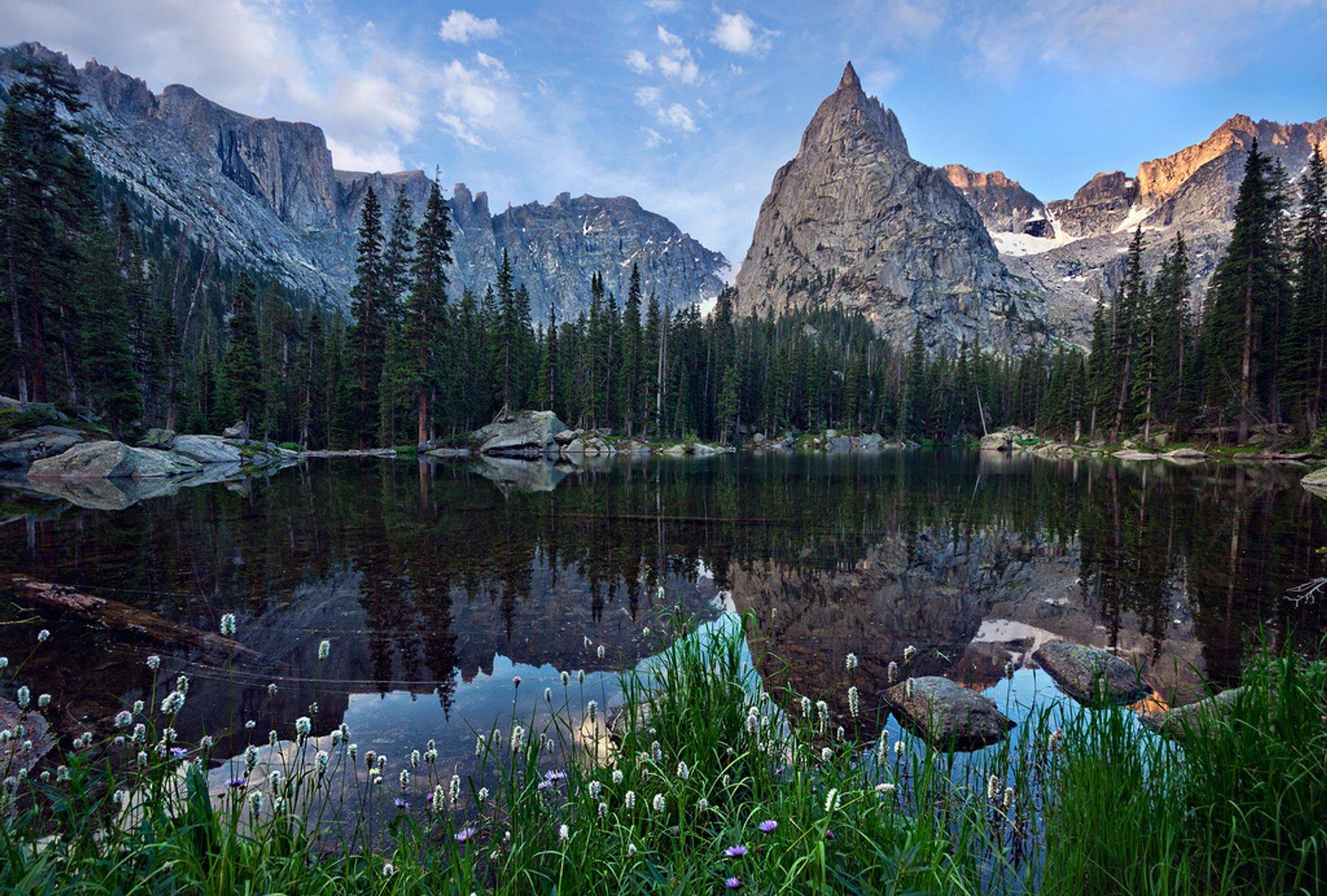 Lone Eagle Peak above Mirror Pond 2020