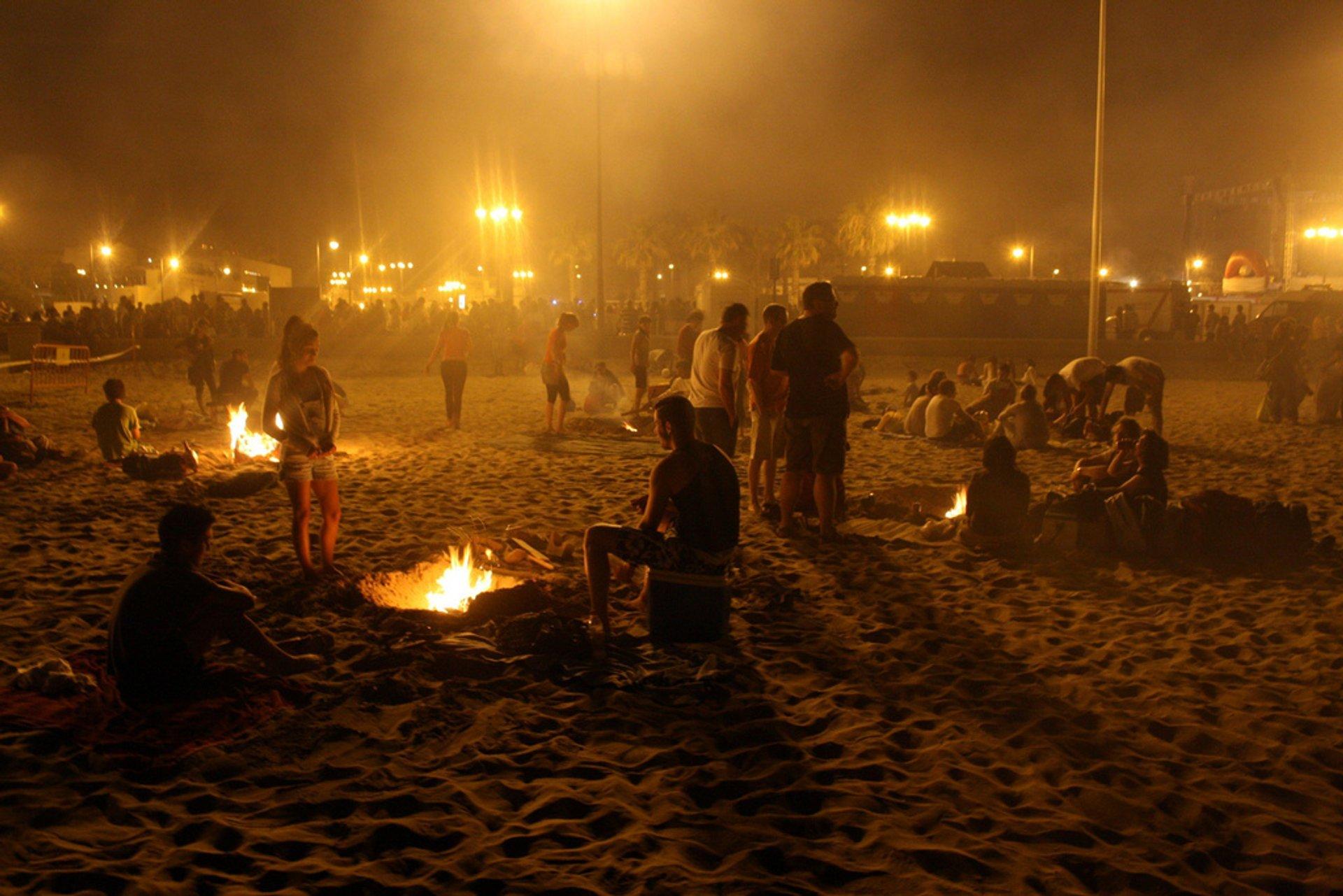 Noche de San Juan. Playa de las Arenas, Valencia. España 2019
