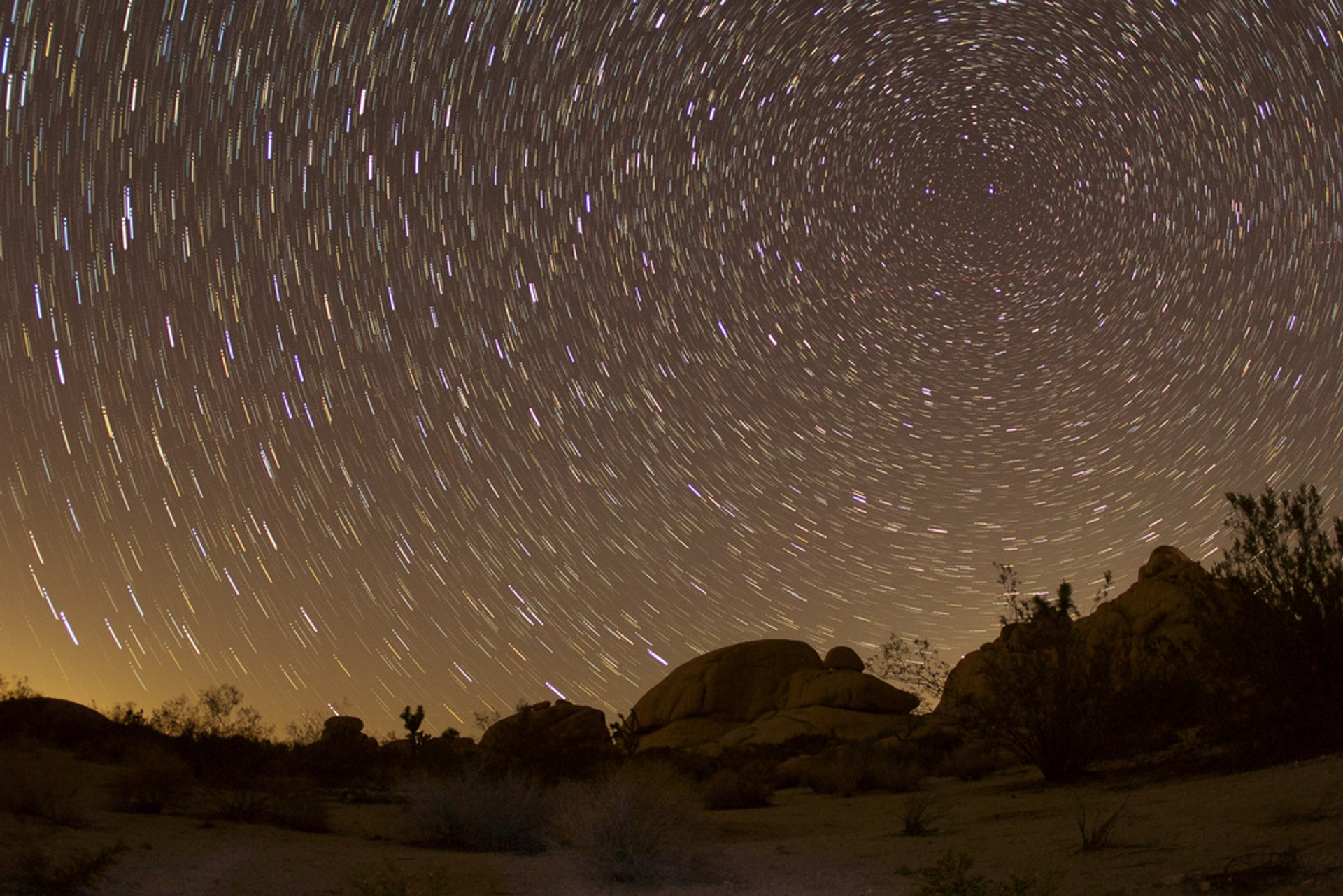 Perseid meteor shower over Joshua Tree National Park 2020
