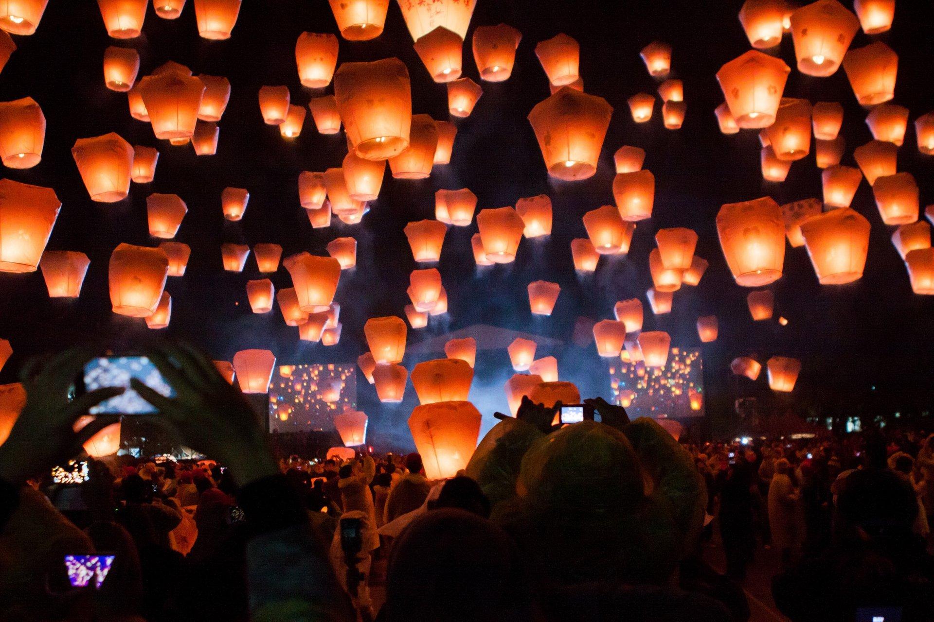 Pingxi Sky Lantern Festival in Taiwan 2019 - Best Time