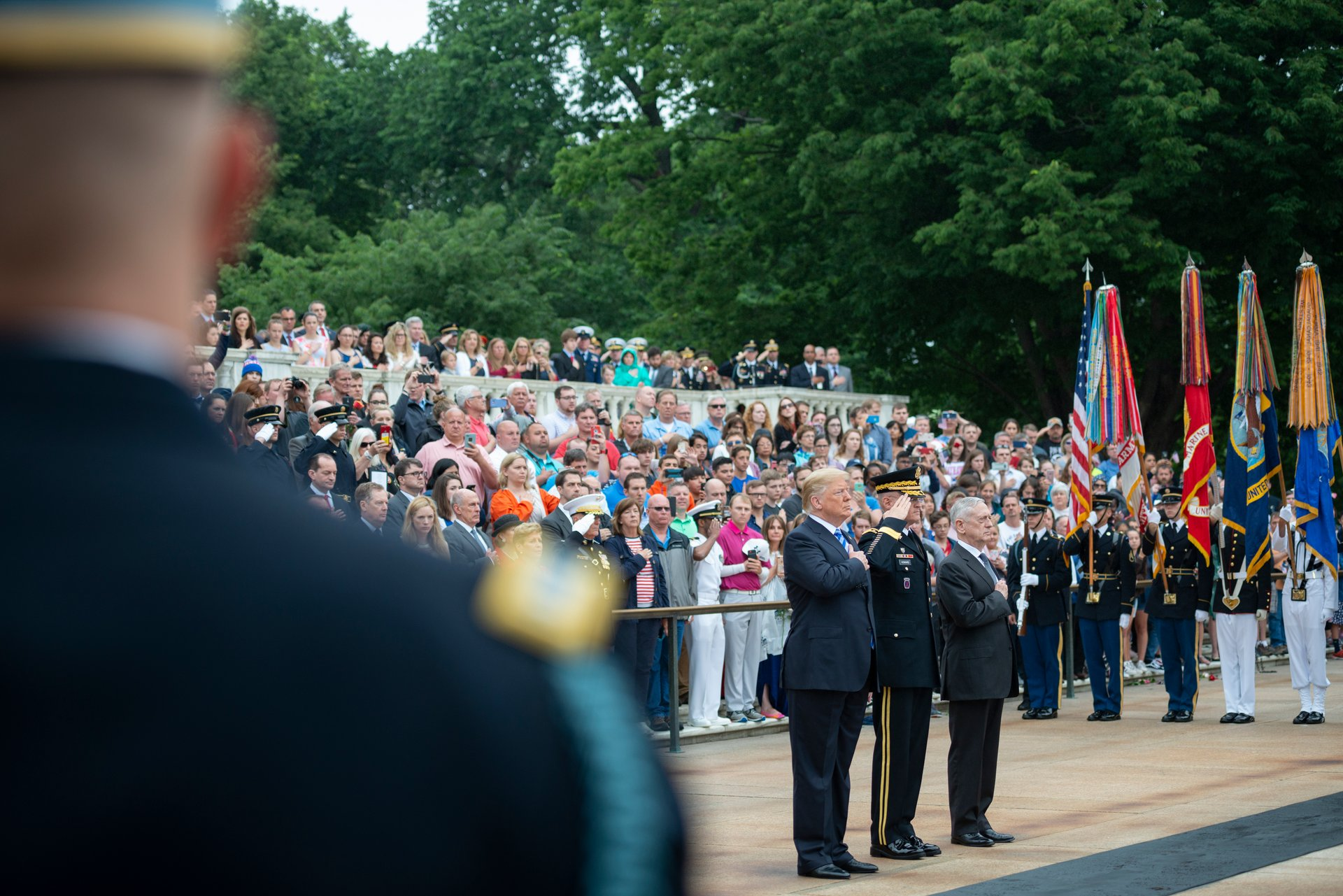 Presidential Armed Forces Full Honors Wreath-Laying Ceremony in observance of Memorial Day at Arlington National Cemetery, Arlington, Virginia 2020
