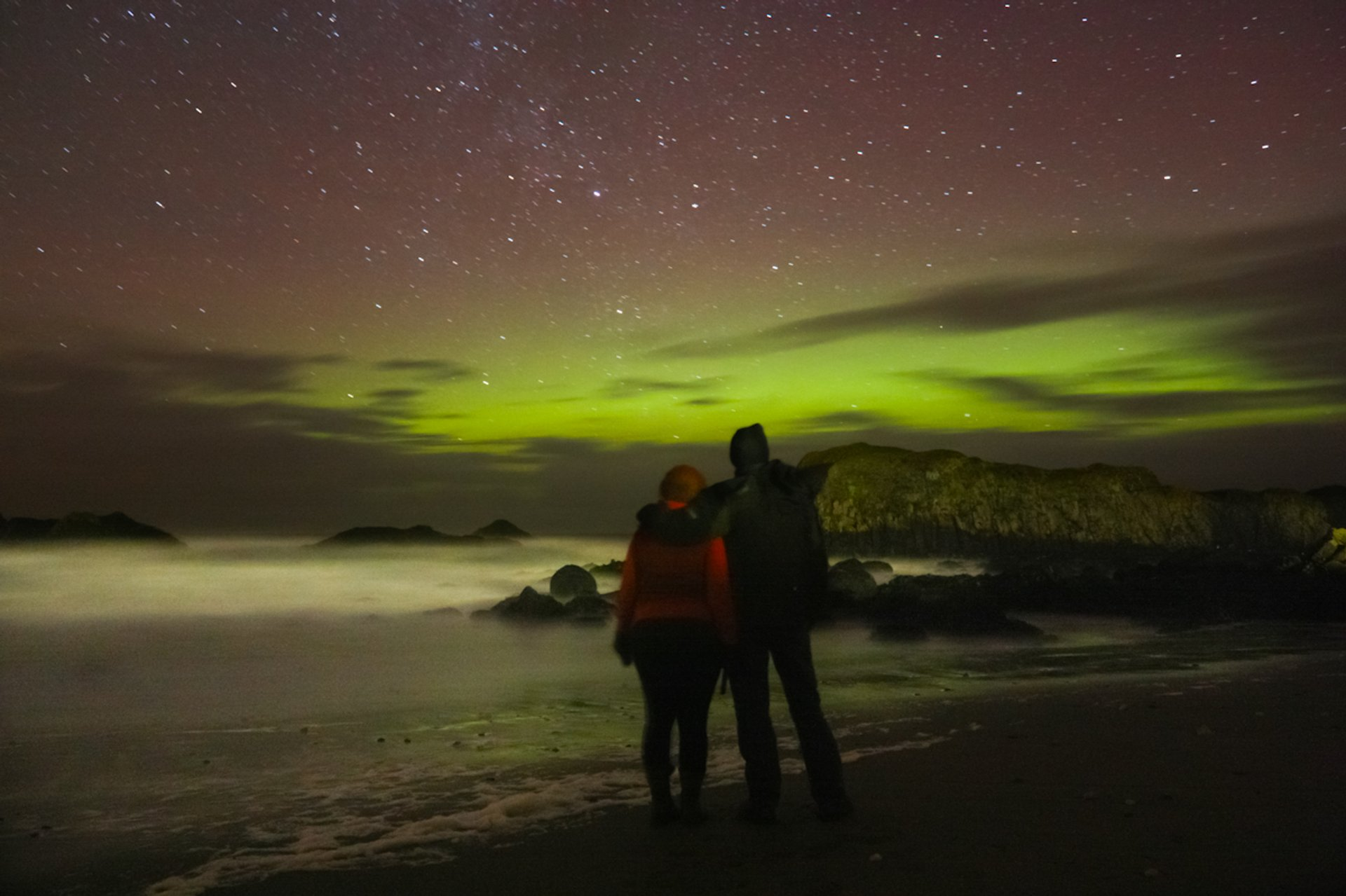 Aurora Borealis taken on the beach at Ballintoy Harbour on January 22nd 2012 2020