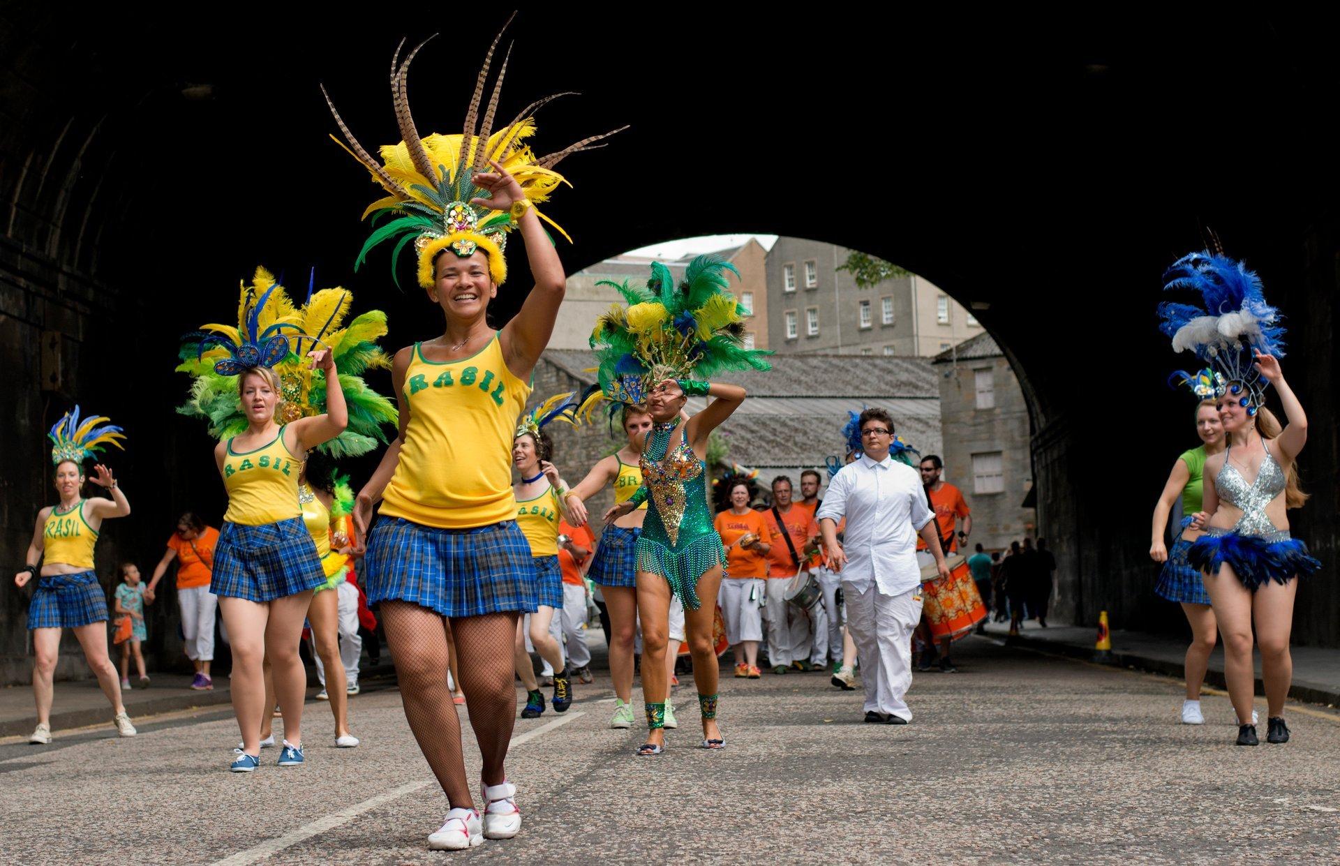 Edinburgh Samba School at the Edinburgh Festival Carnival 2020