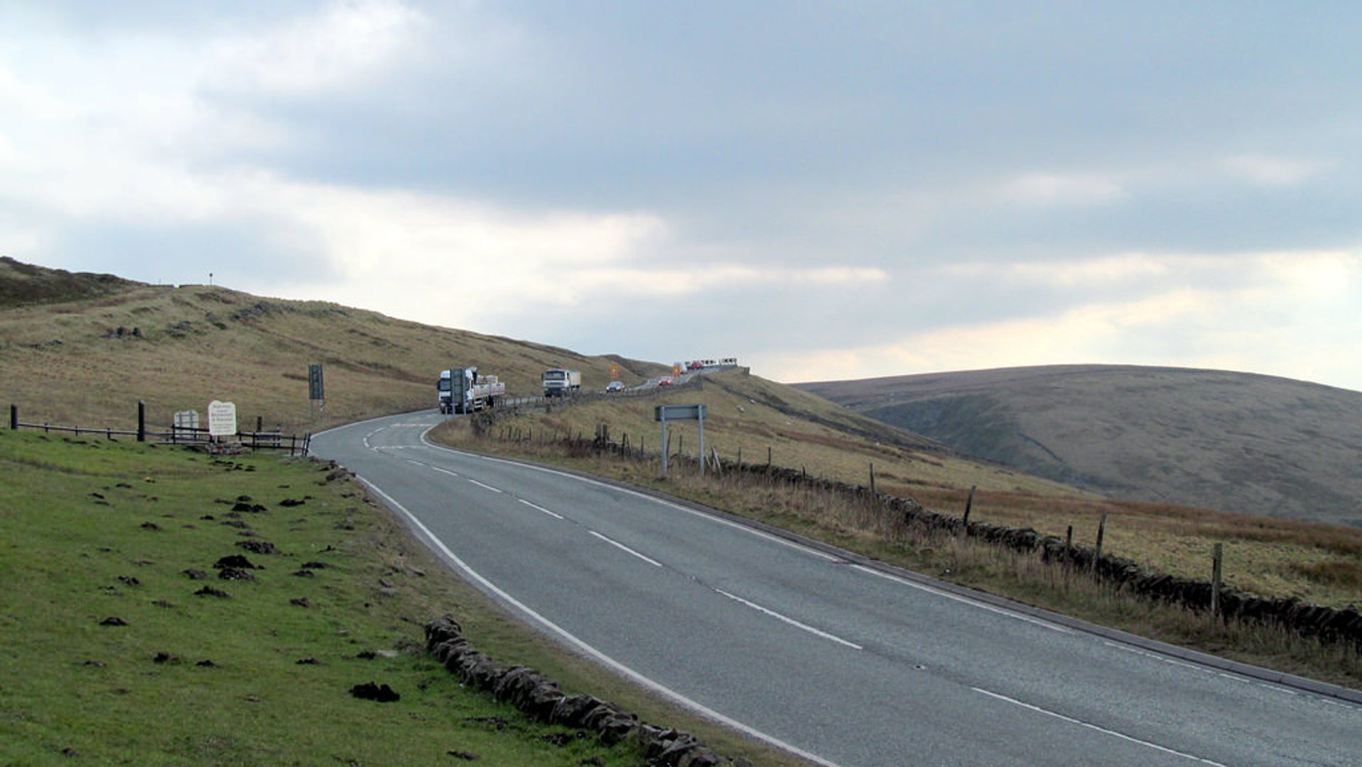 Macclesfield Road, just along from the Cat and Fiddle 2020